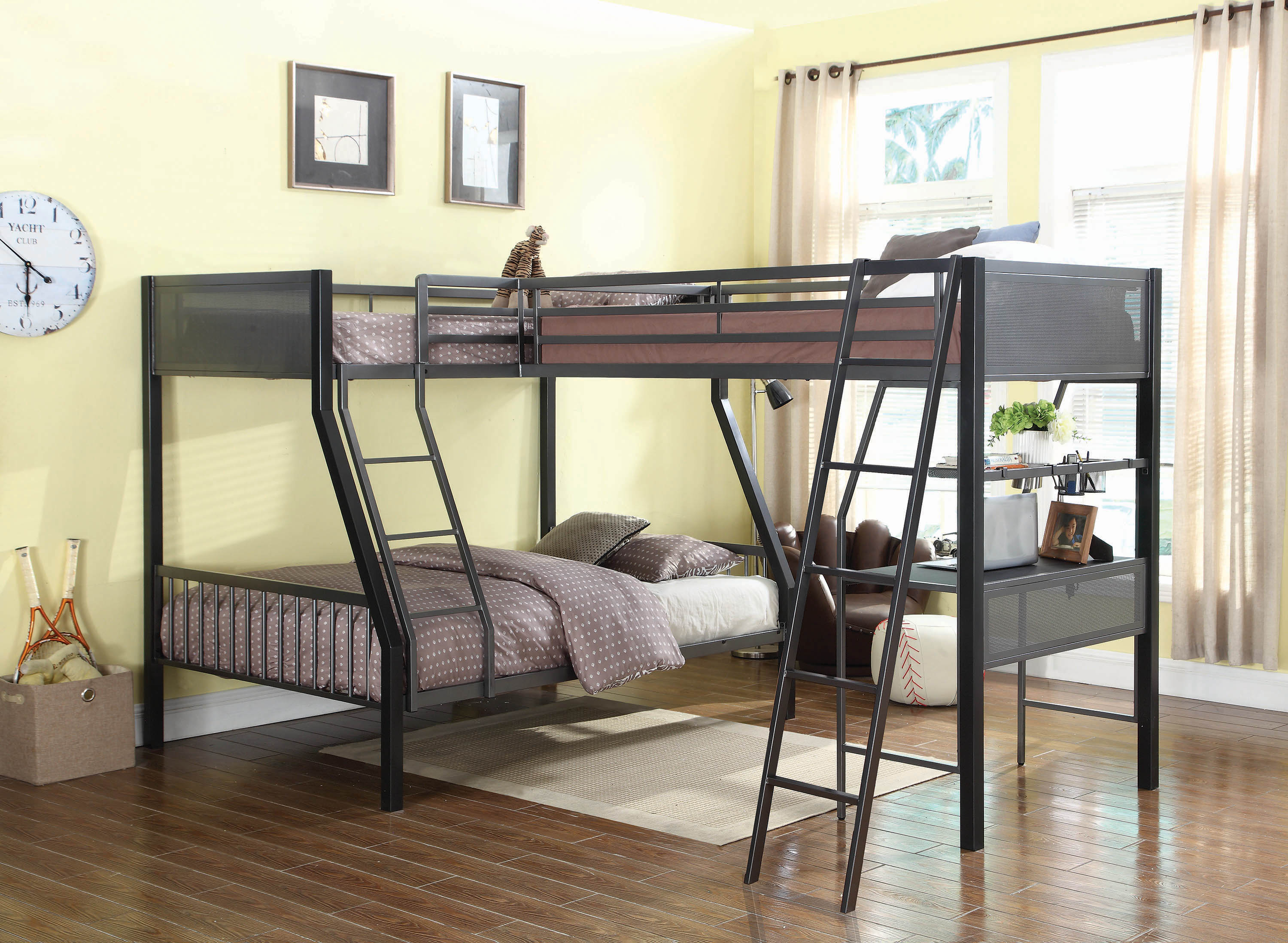 Image result for bunk beds 3 sleeper