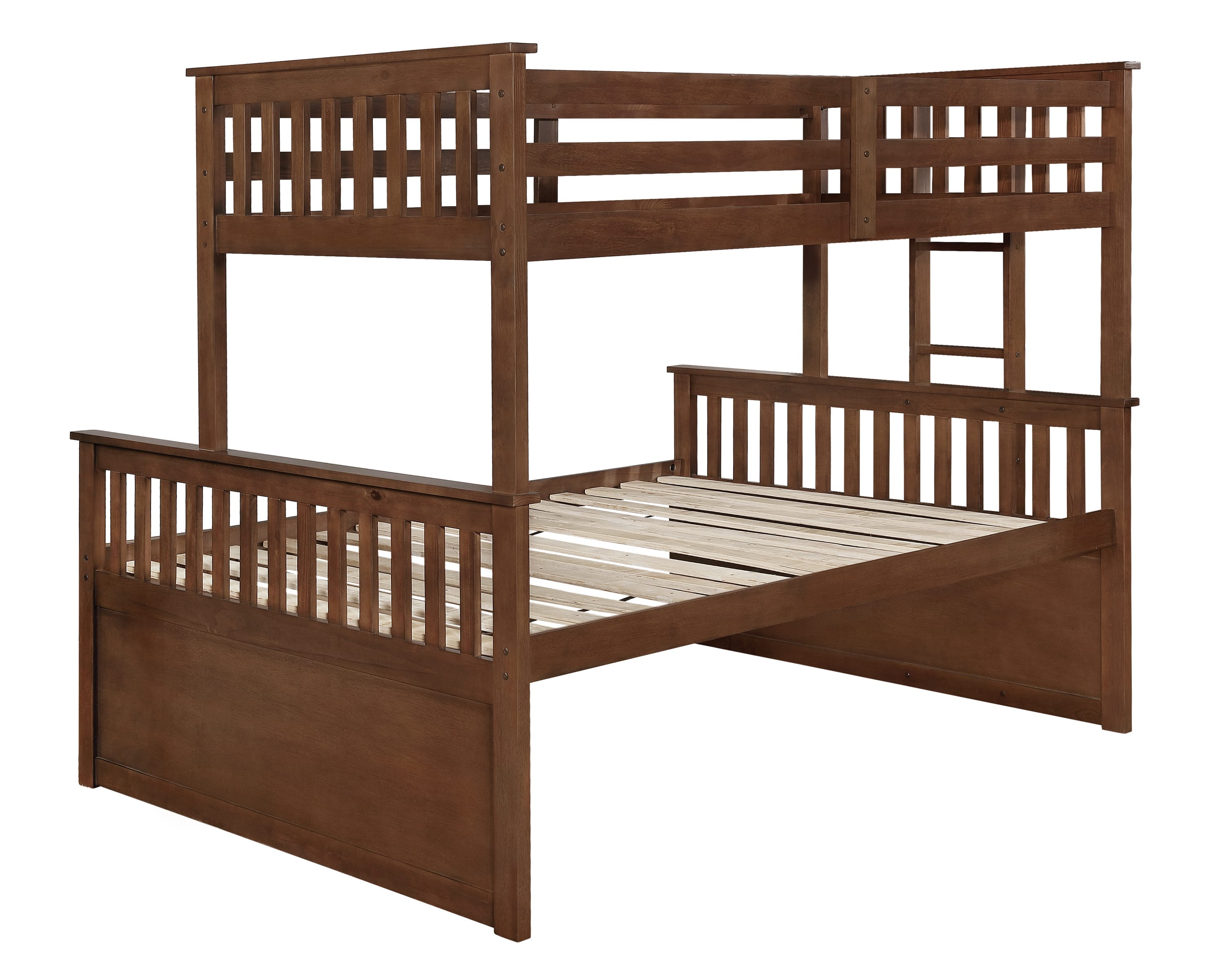 Picture of: Atkin Weathered Walnut Twin Xl Over Queen Bunk Bed By Coaster