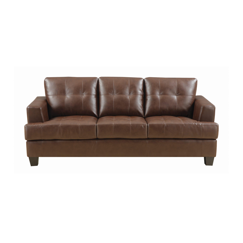 Samuel Dark Brown Tufted Sofa by Coaster Fine Furniture