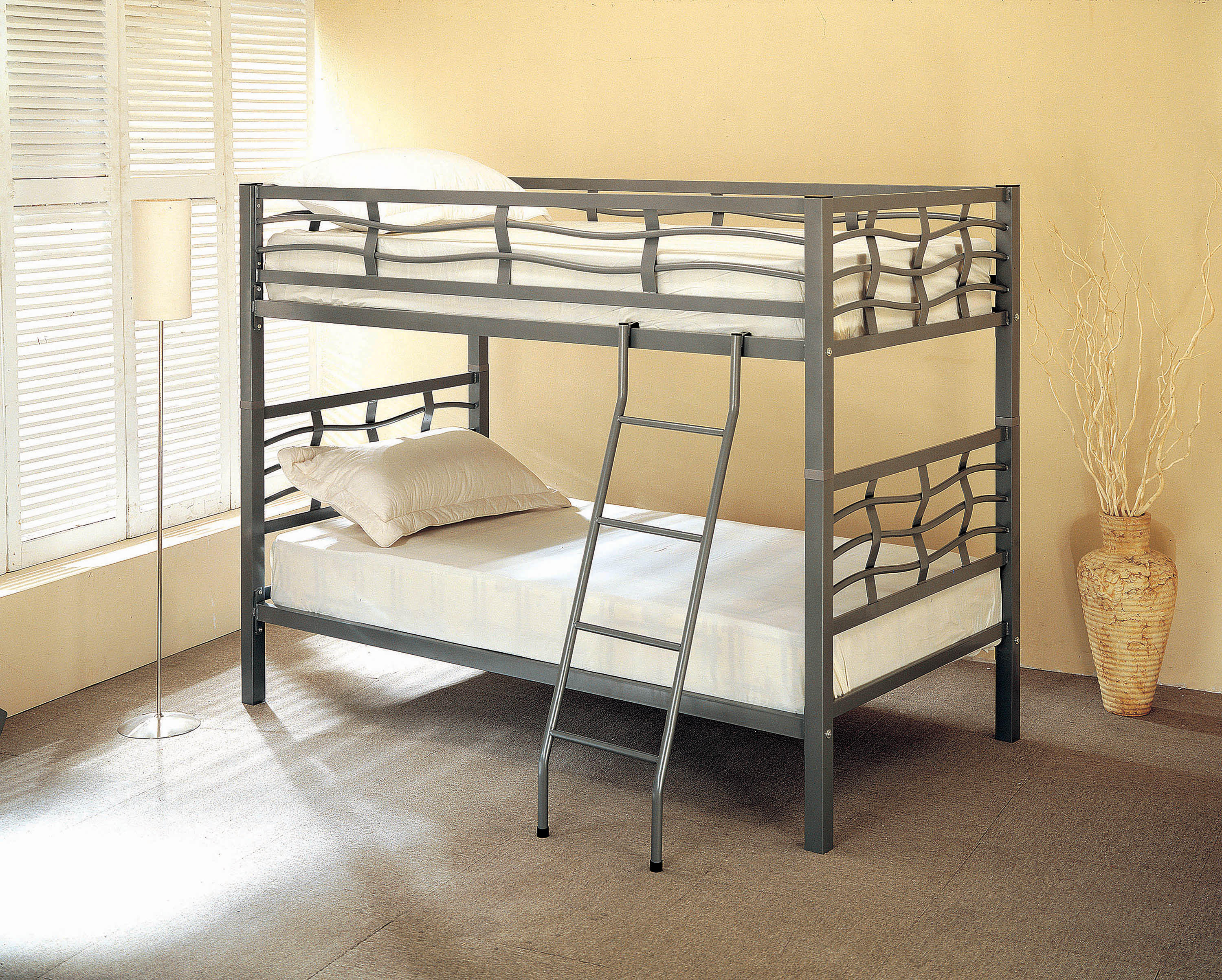 Fairfax Contemporary Metal Bunk Bed By Coaster