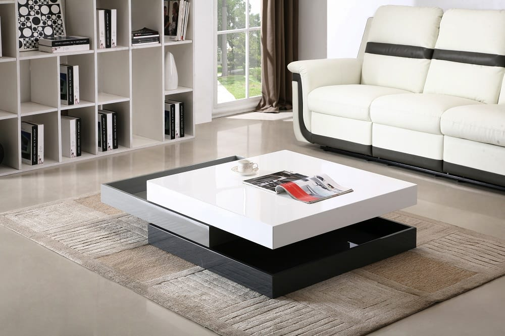 modern rotary coffee table cw01 by jm furniture - Modern Coffee Table Sets