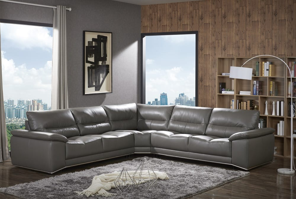 Cagliari Premium Italian Leather Sectional By J M Furniture