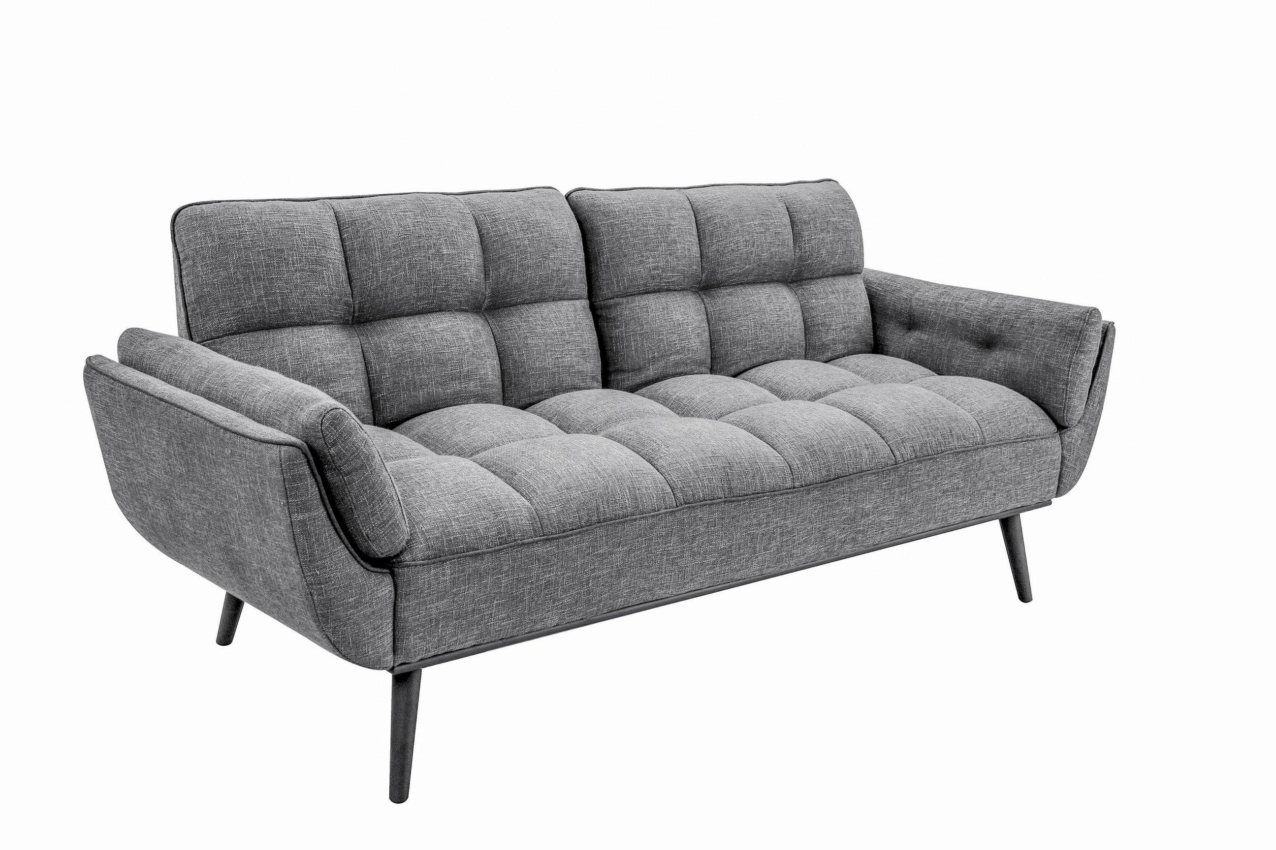 . candice convertible sofa dark gray by serta  lifestyle