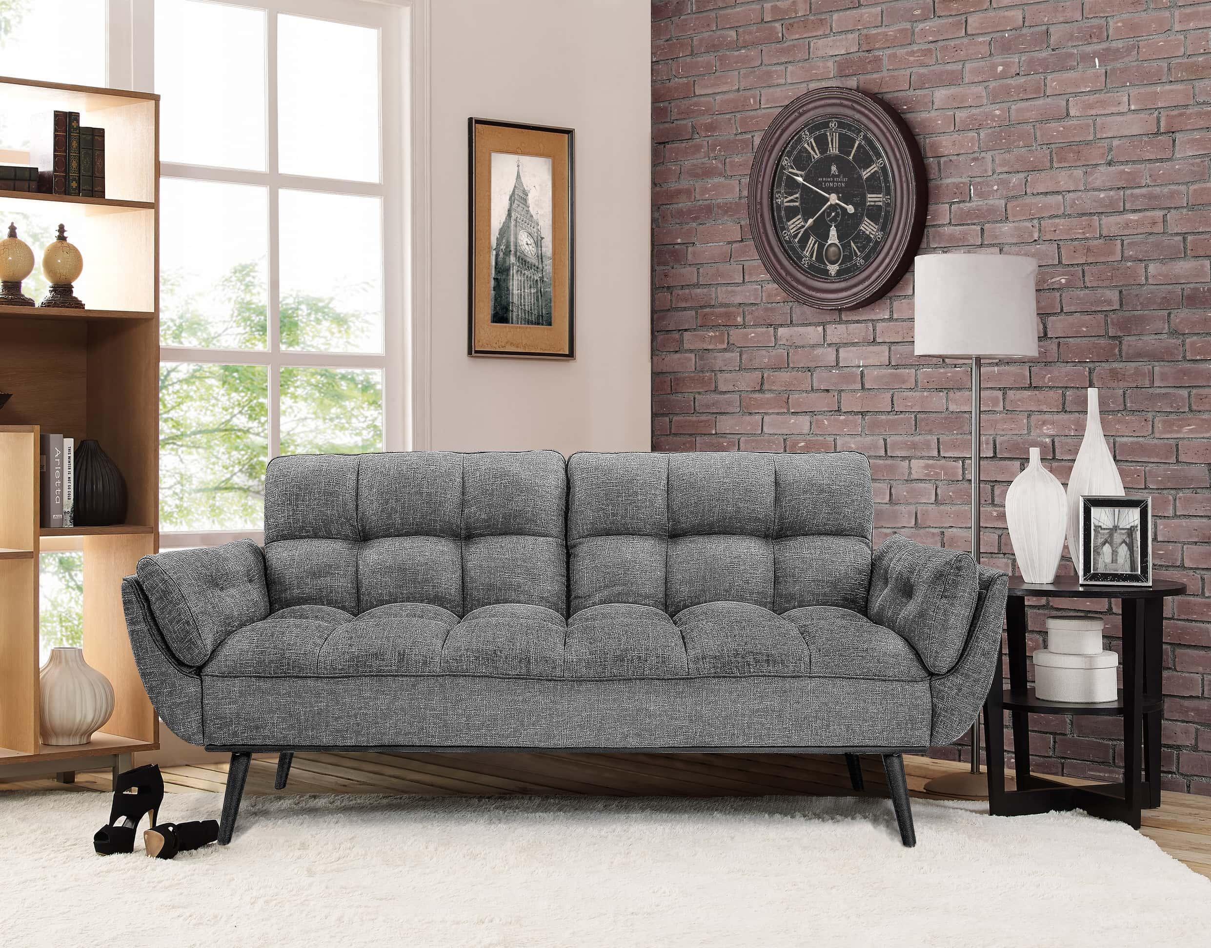 Serta Living Room Furniture Candice Convertible Sofa Dark Gray By Serta Lifestyle