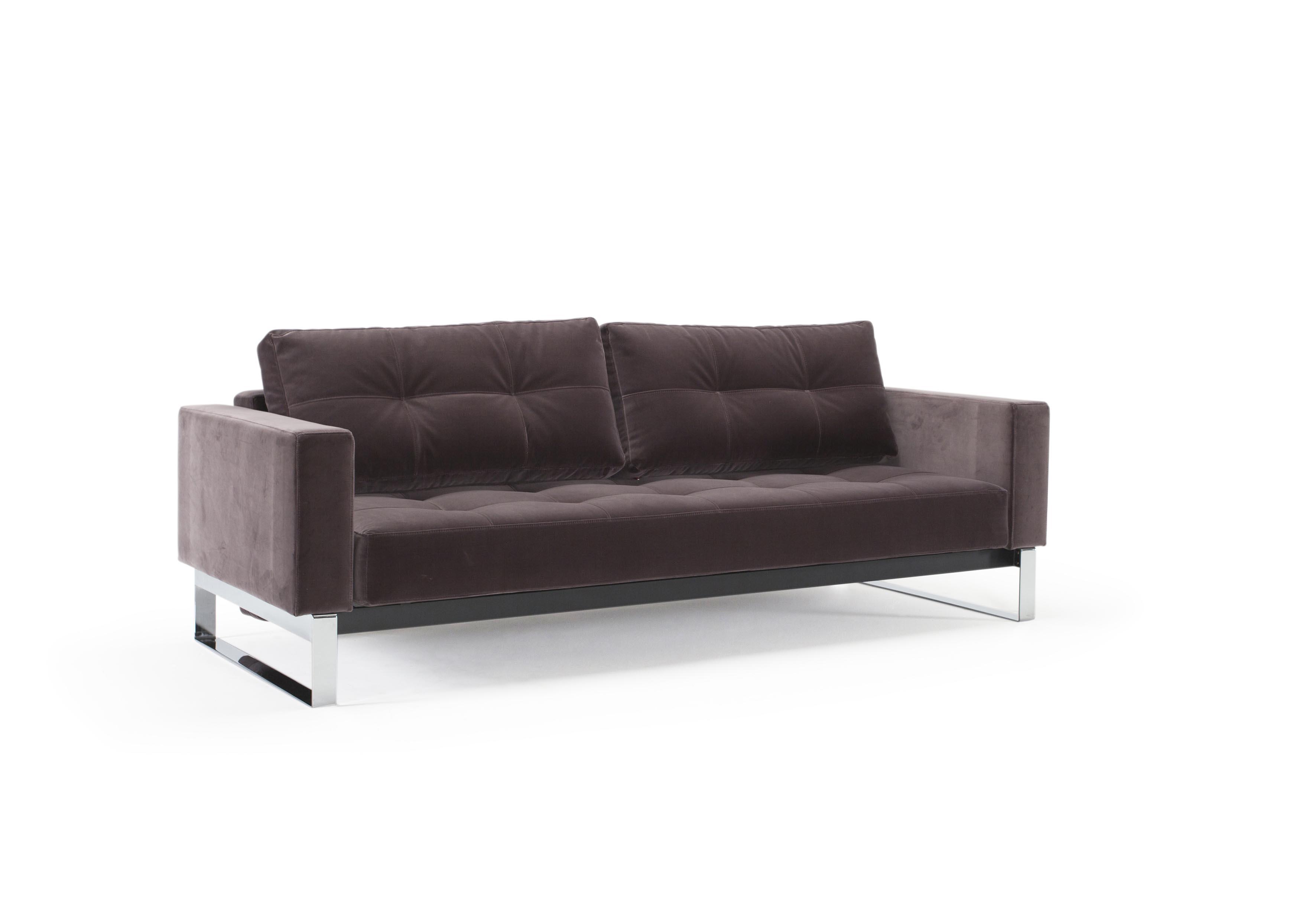 Cassius Velvet Sofa Bed (Full Size) Vintage Velvet Mauve By Innovation
