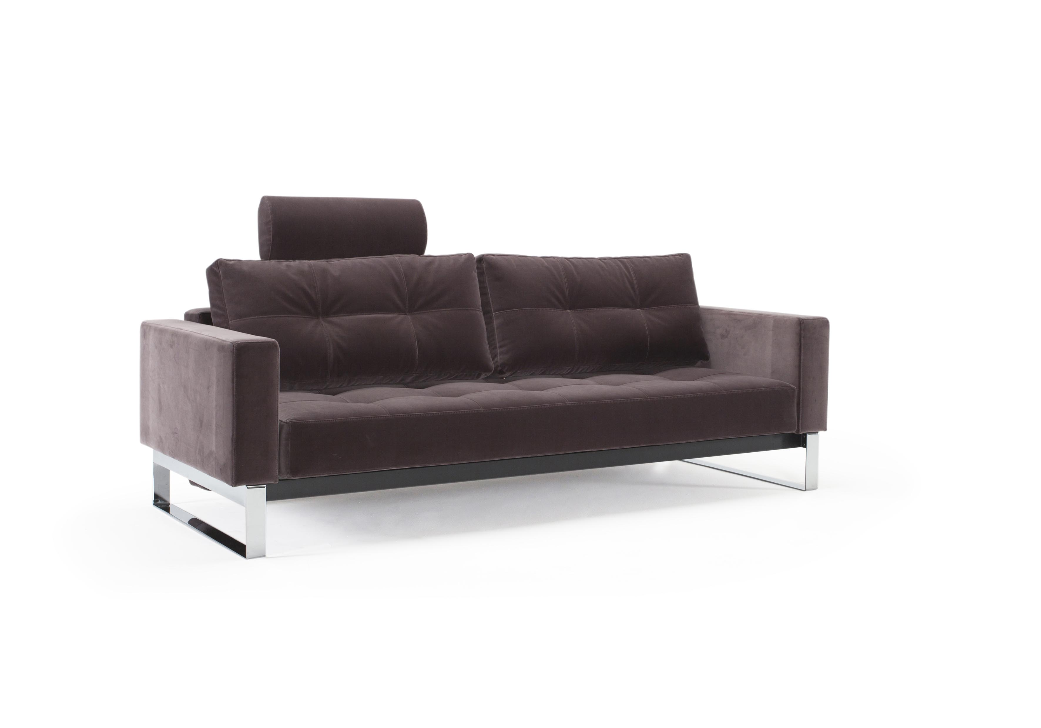 Cassius velvet sofa bed full size vintage velvet mauve for Vintage velvet sectional sofa