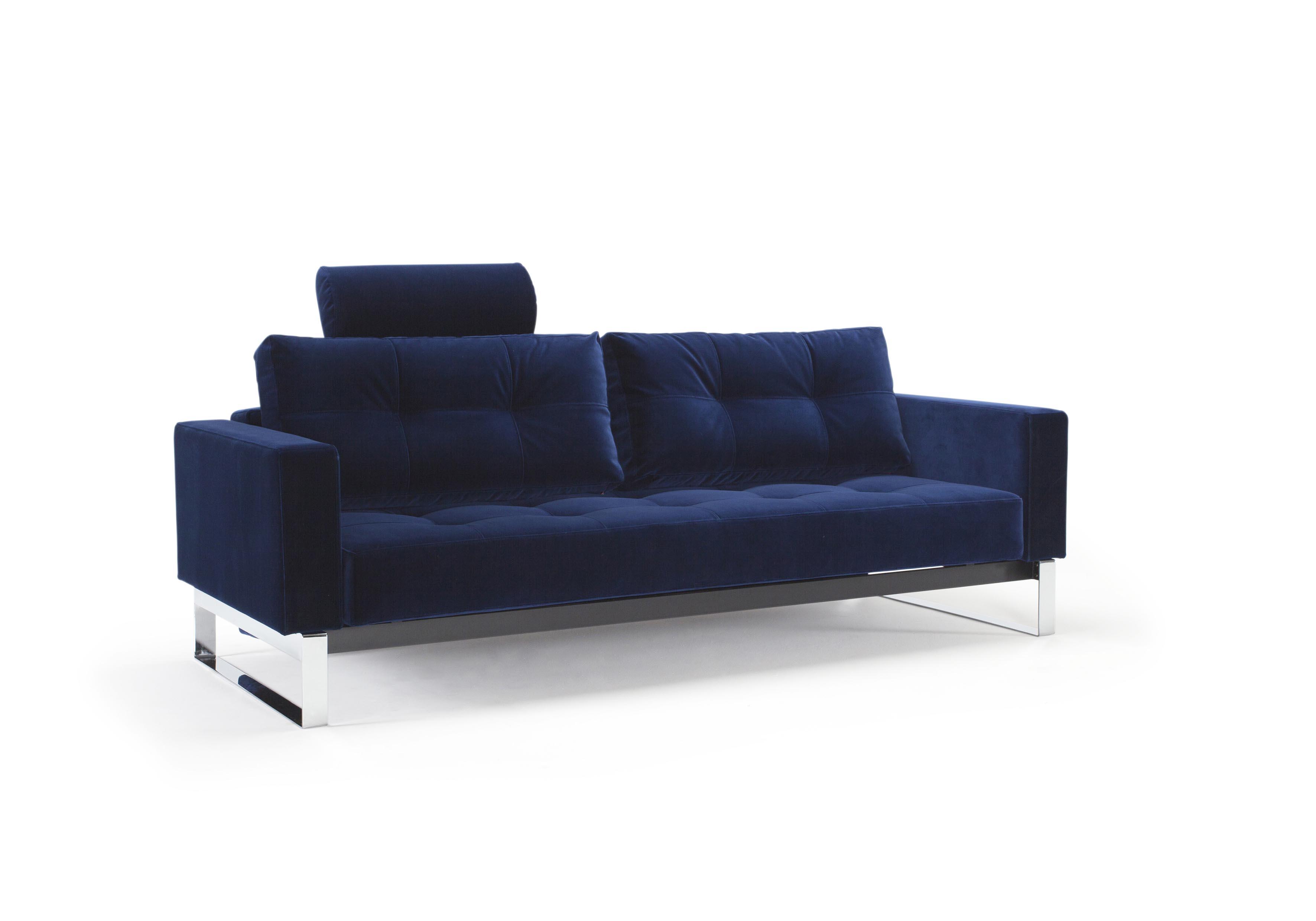 Cassius velvet sofa bed full size vintage velvet blue by for Sofa bed name