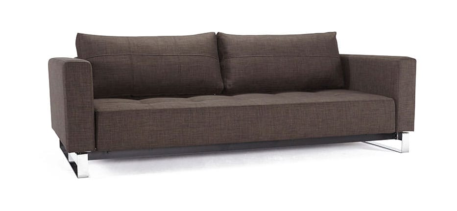 Cassius deluxe excess sofa bed queen size begum dark Queen size sofa bed