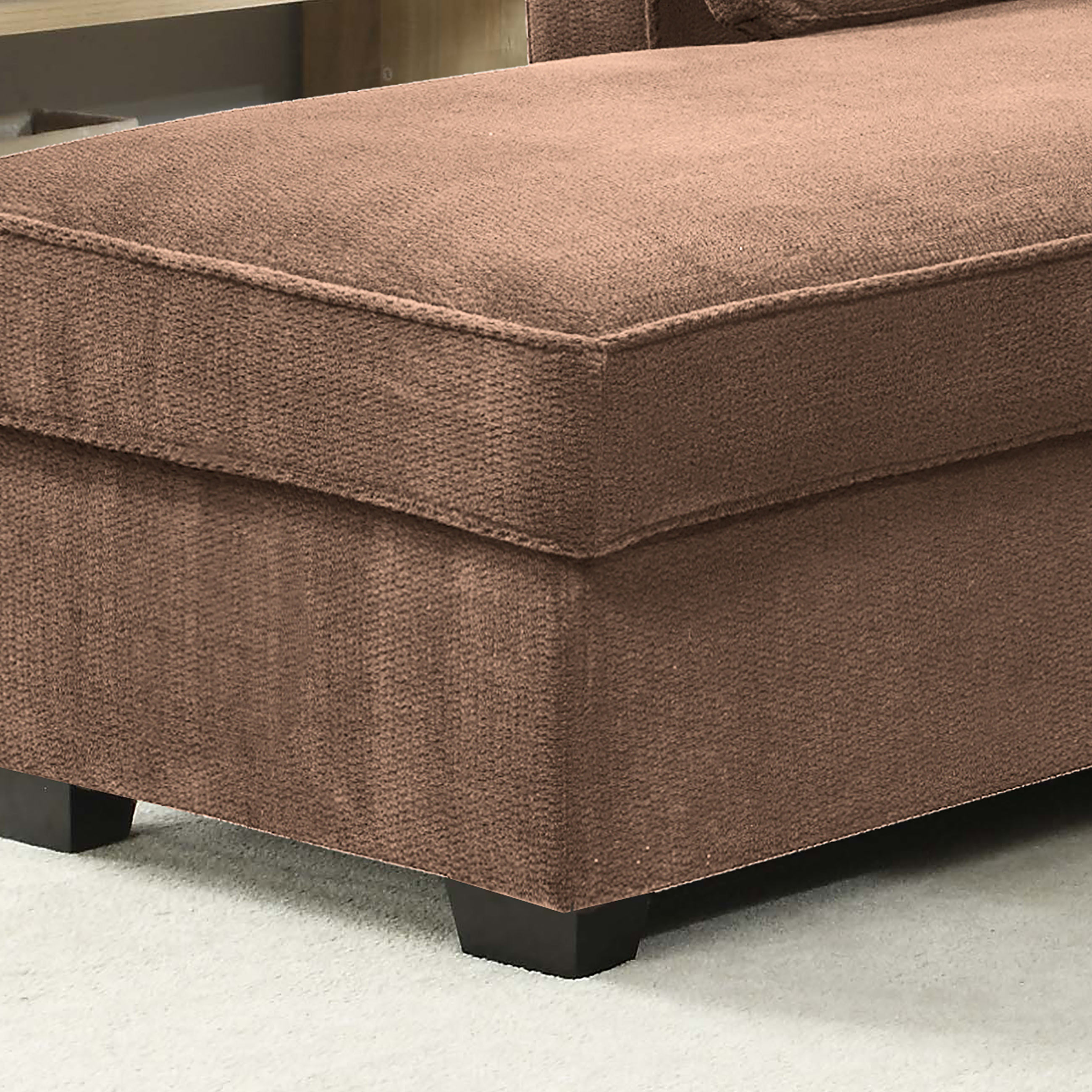 Chaela Sectional Convertible Sofa Light Brown by Serta Lifestyle