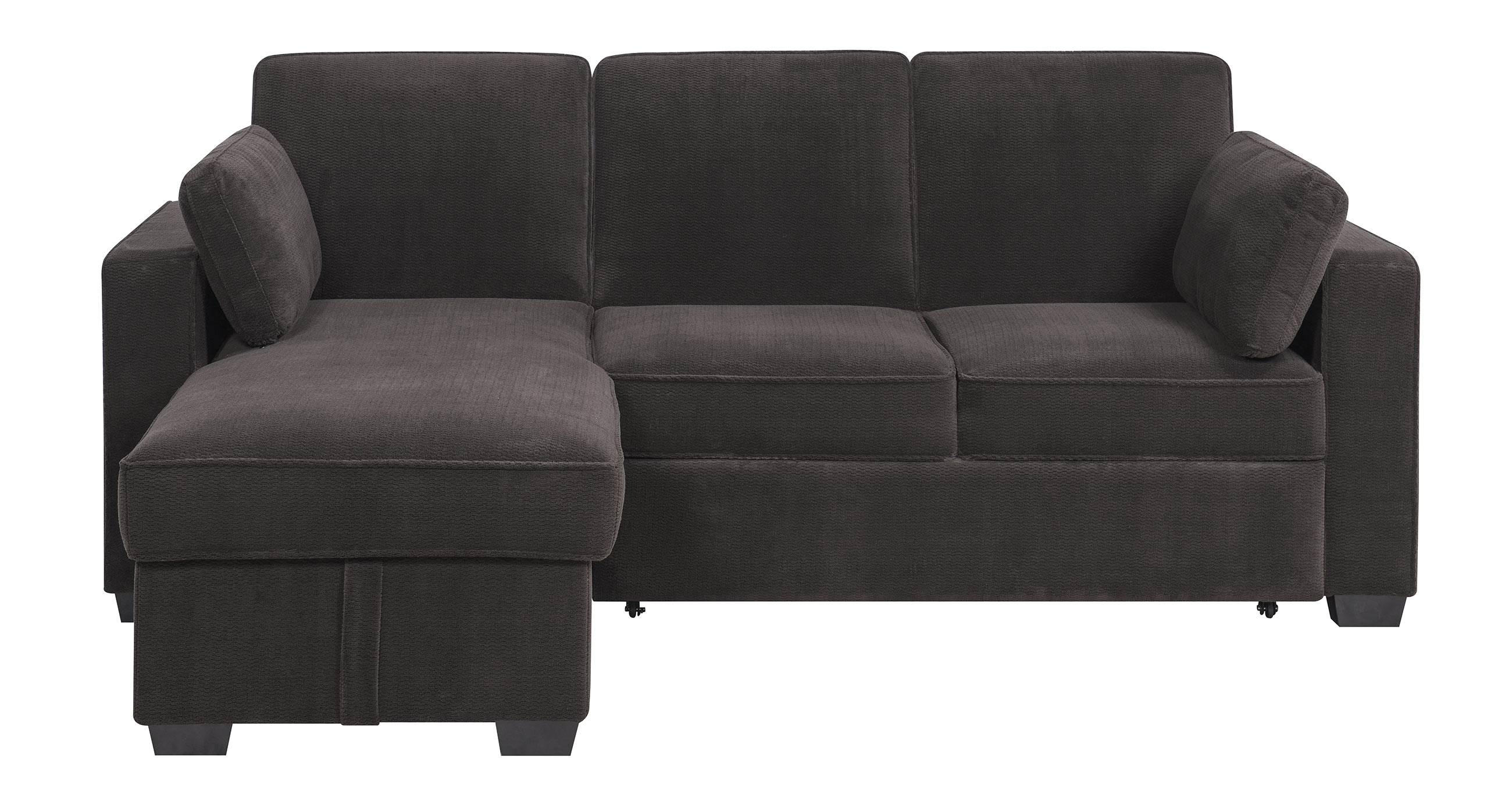 Chaela Sectional Convertible Sofa Dark Grey by Serta Lifestyle