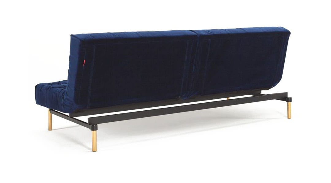 Oldschool Chesterfield Sofa Bed Vintage Velvet Blue By Innovation
