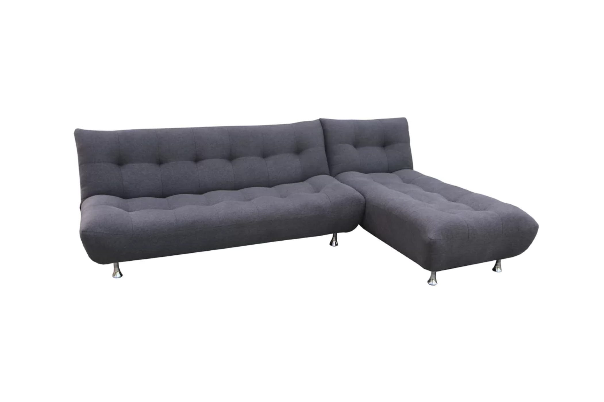Cloud Midnight Gray Sofa Bed w/Optional Chaise by Night&Day Furniture