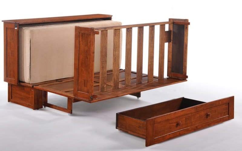 Clover Queen Murphy Cabinet Bed Cherry by Night&Day Furniture