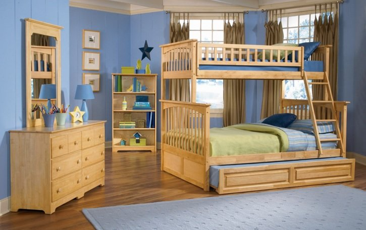 Columbia Natural Maple Bunk Bed By Atlantic Furniture