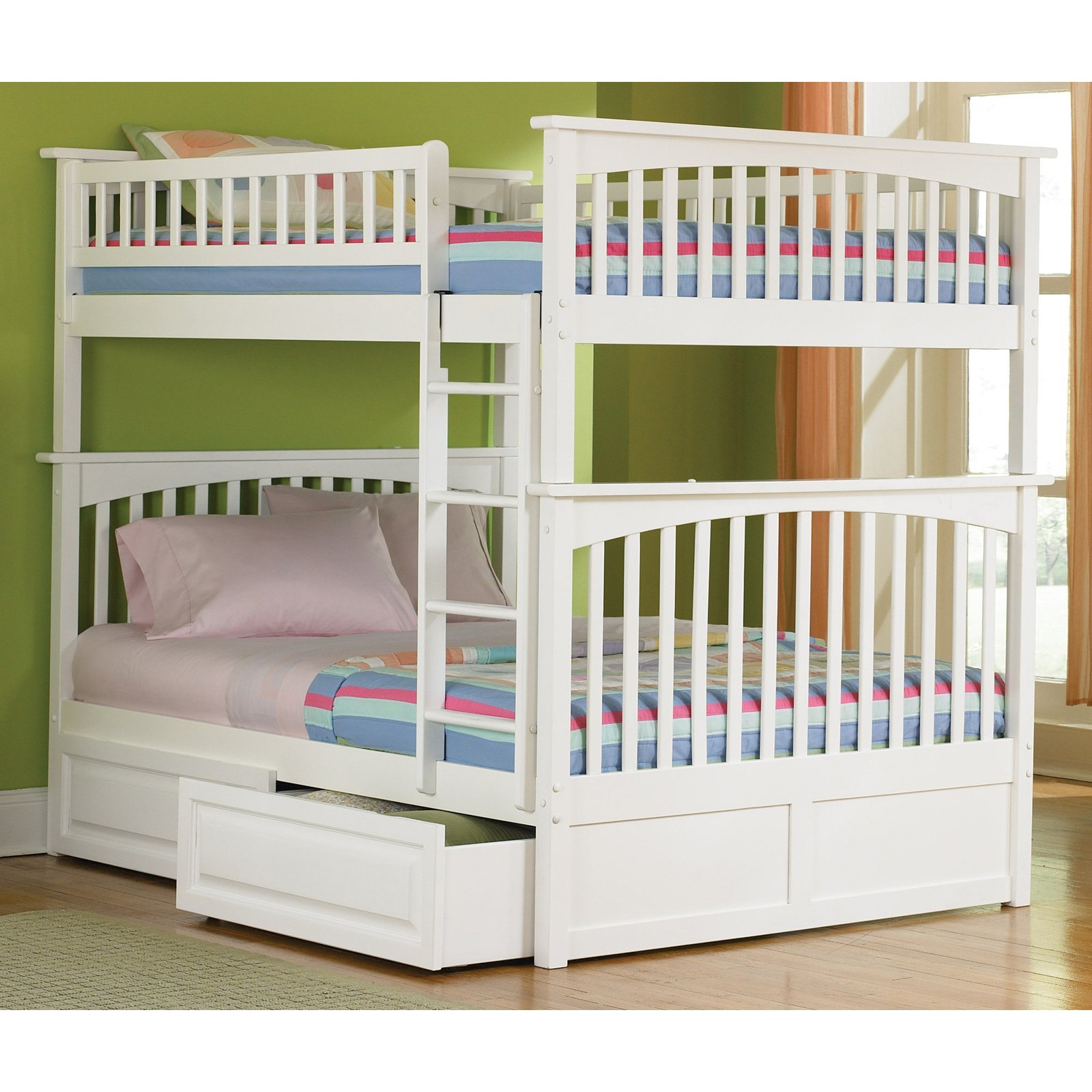 Columbia White Bunk Bed By Atlantic Furniture
