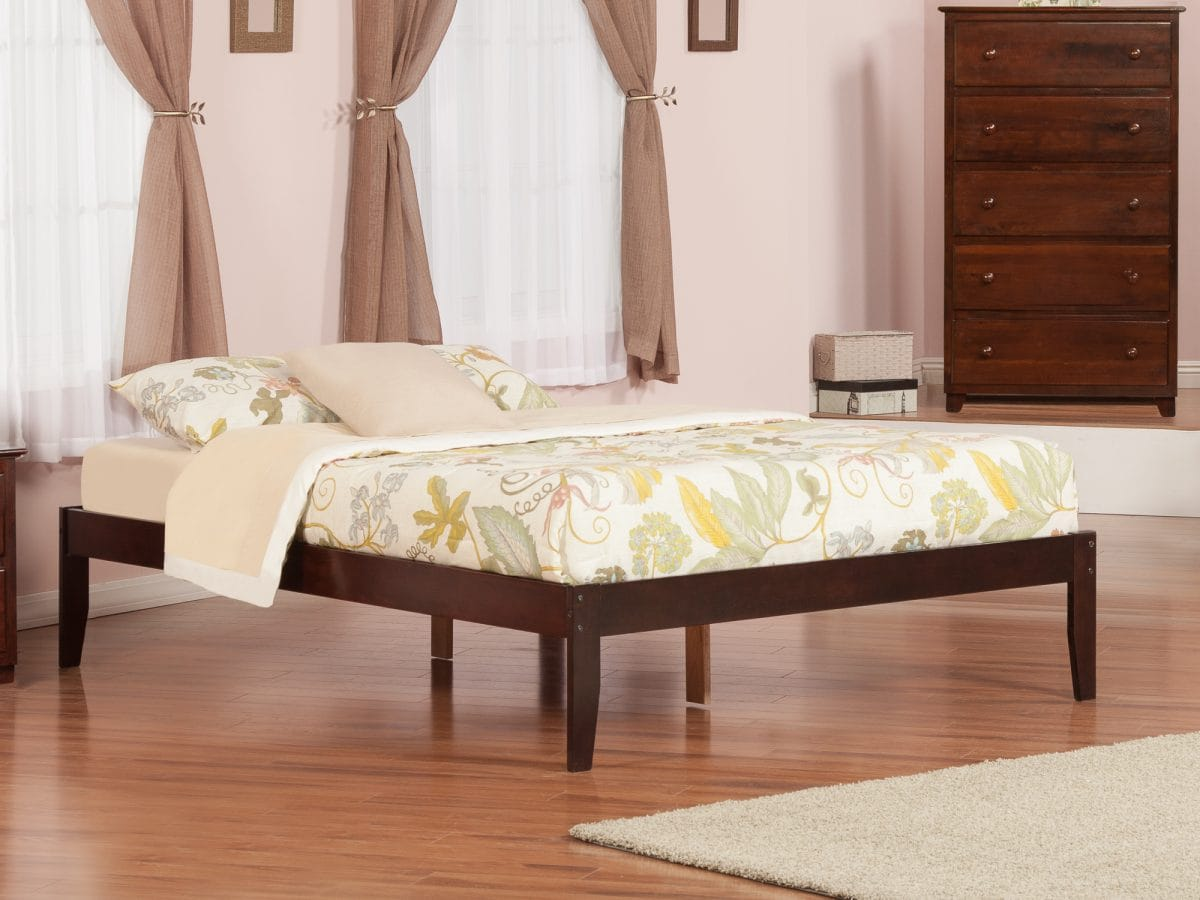 Concord Antique Walnut Platform Bed By Atlantic Furniture