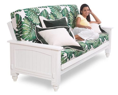 Cottage Satin White Futon Frame