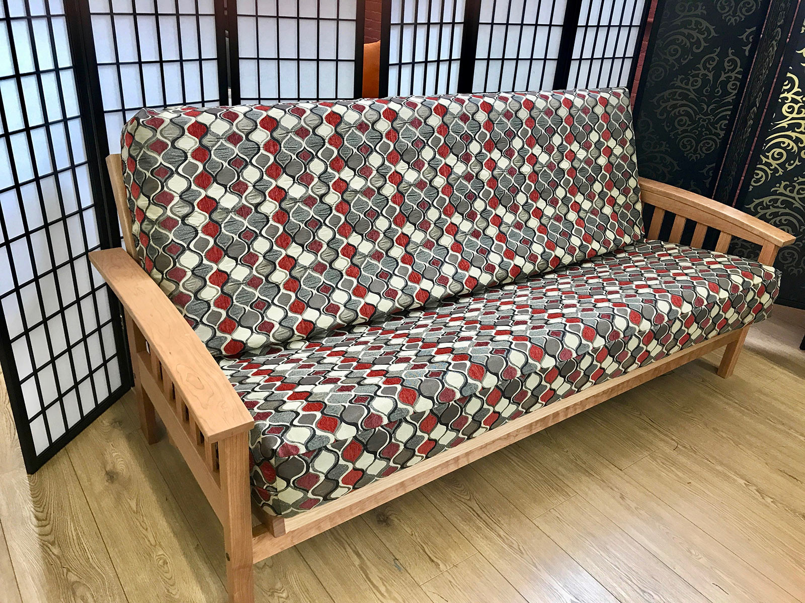 size twill futon cover inch com cotton futons bbff queen dp hunter larger view amazon mattress mozaic