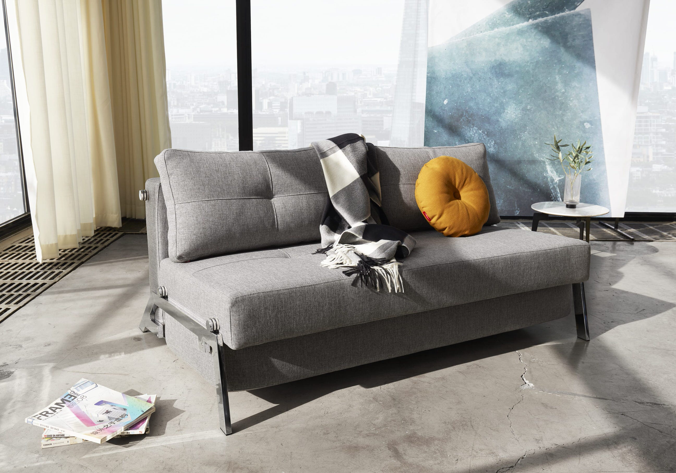 Cubed 02 Deluxe Sofa Full Size Mixed Dance Gray By