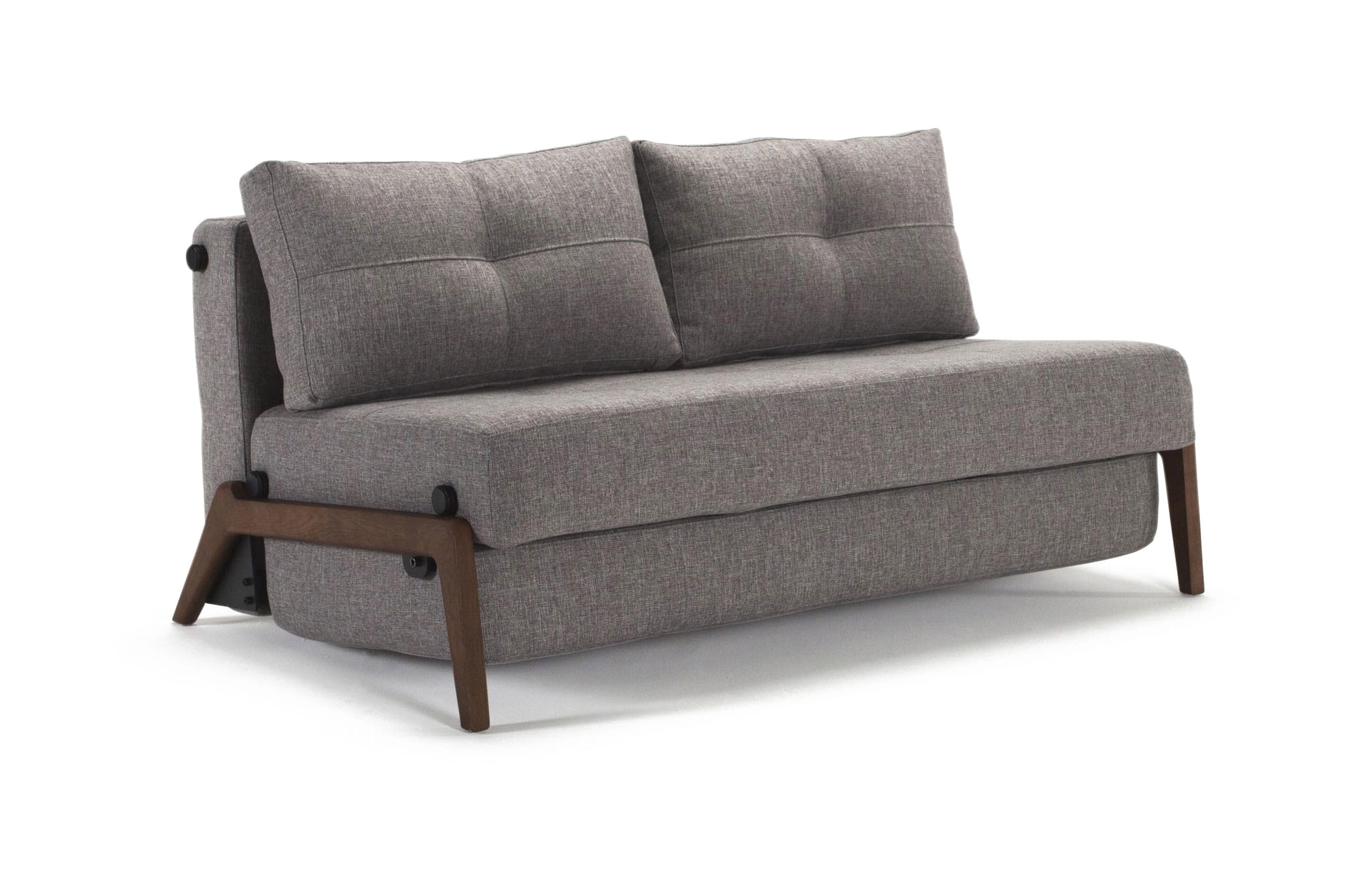 Cubed Deluxe Sofa Bed Queen Size Mixed Dance Gray by Innovation