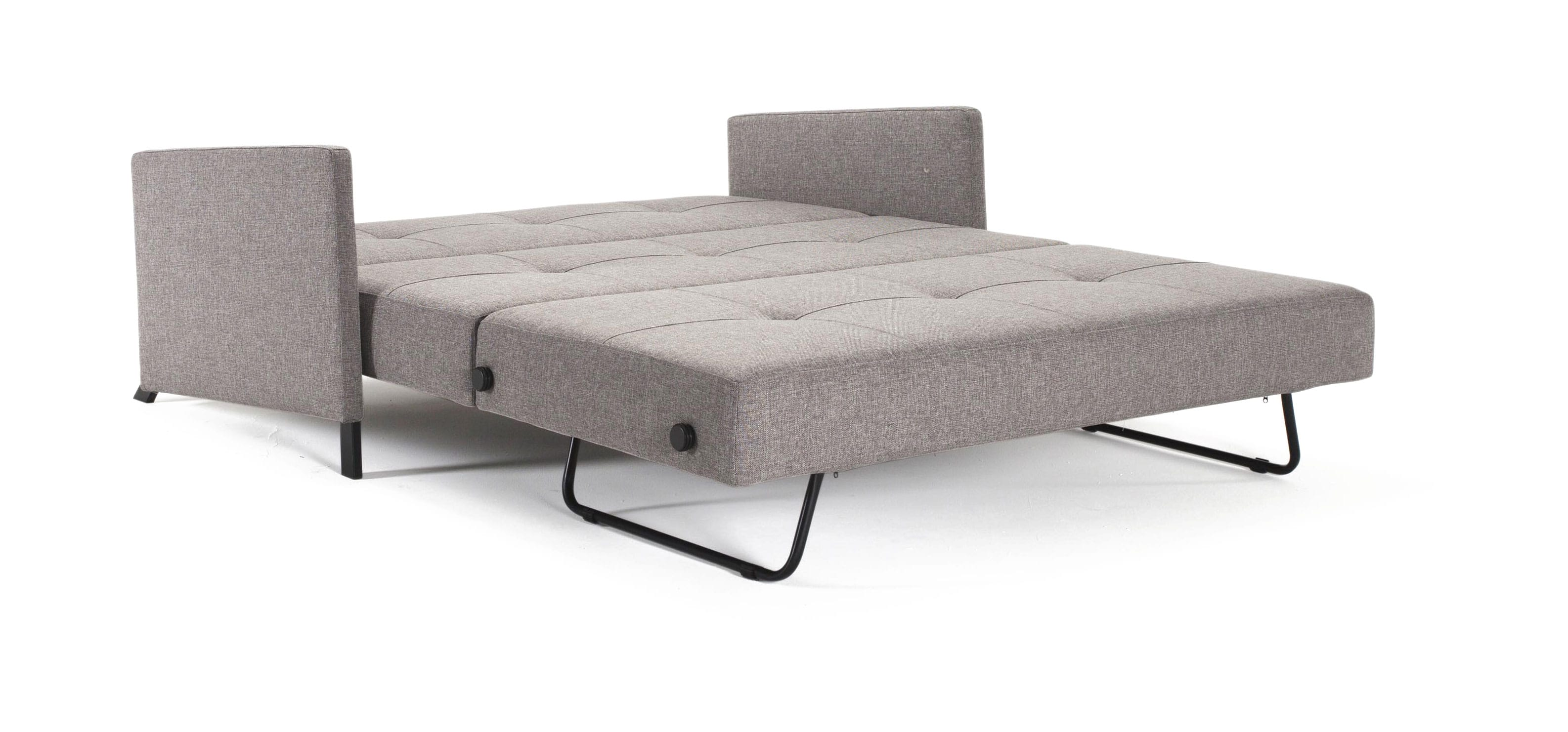 Cubed Deluxe Sofa Bed w Arms Full Size Mixed Dance Gray by