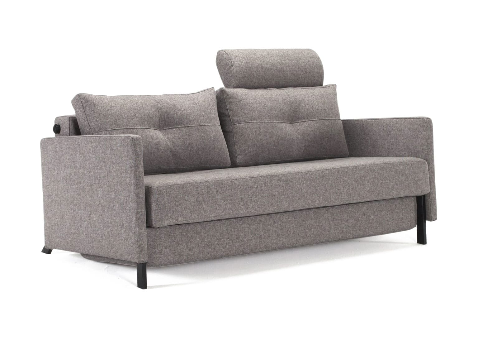 Cubed Deluxe Sofa Bed w Arms Queen Size Mixed Dance Natural by