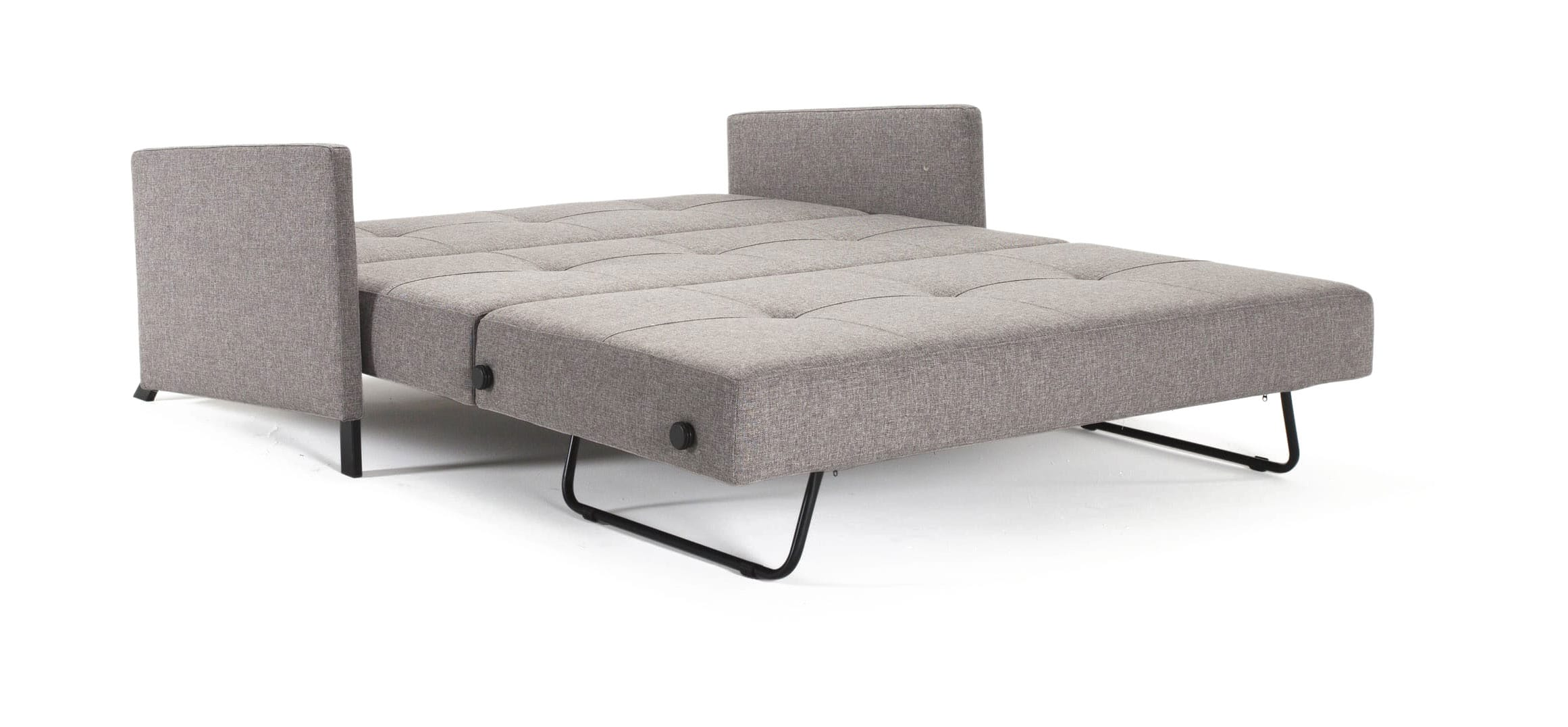 Cubed Deluxe Sofa Bed wArms Queen Size Mixed Dance Gray by