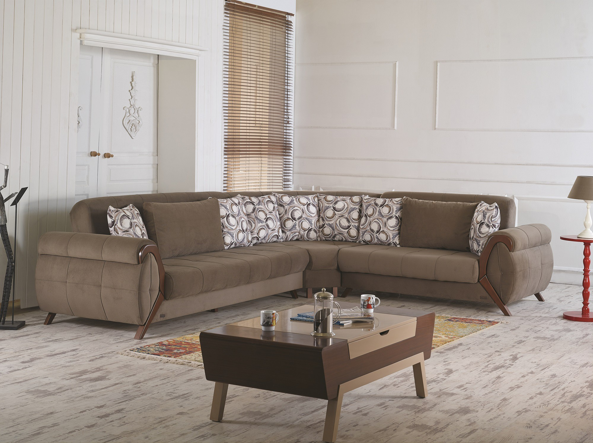 Cyristal sectional sofa by empire furniture usa for Divan furniture usa