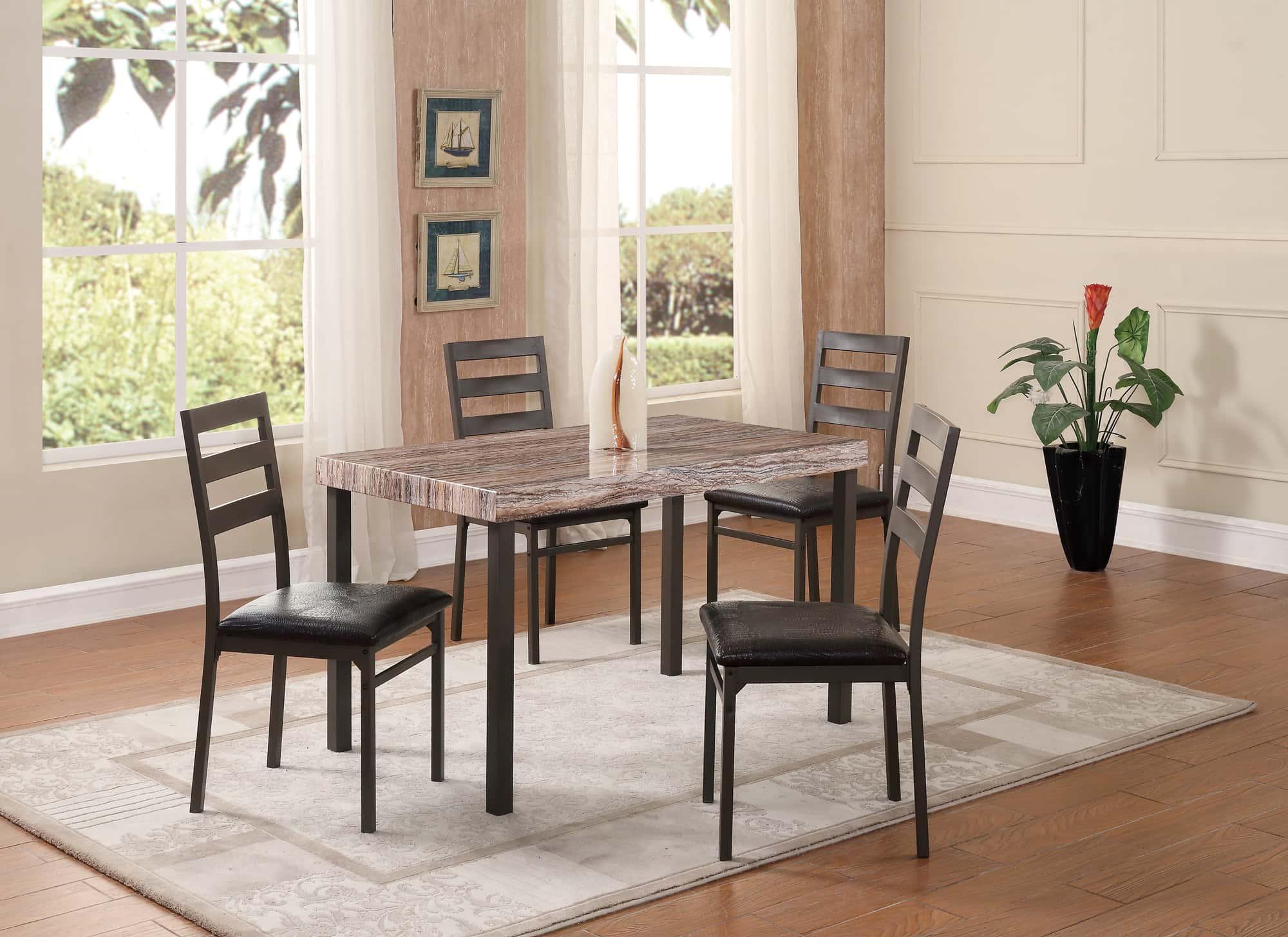 dining table d165dt light brown by global furniture. Black Bedroom Furniture Sets. Home Design Ideas