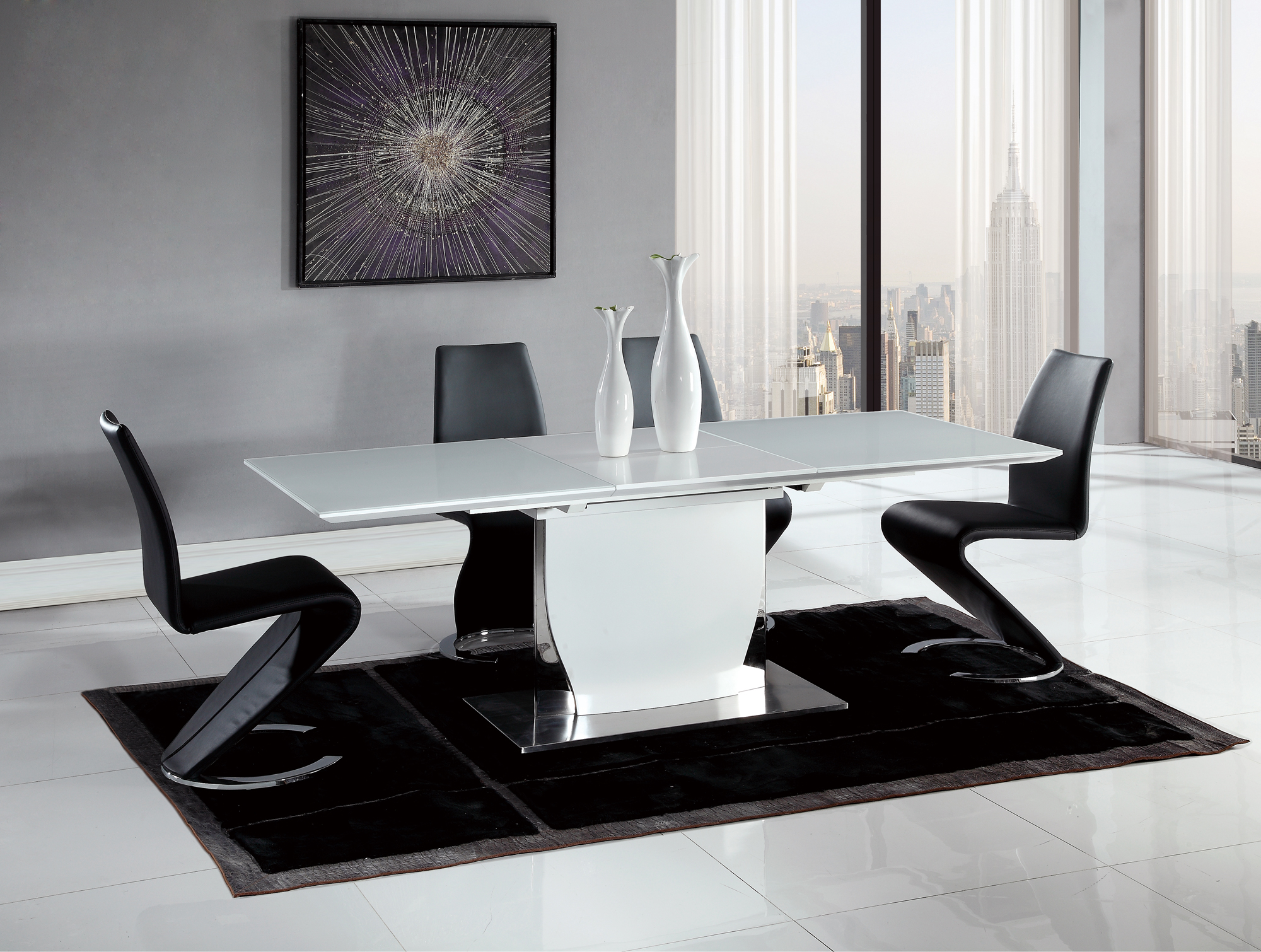 Dining Table DDT White HG By Global Furniture - Global chairs