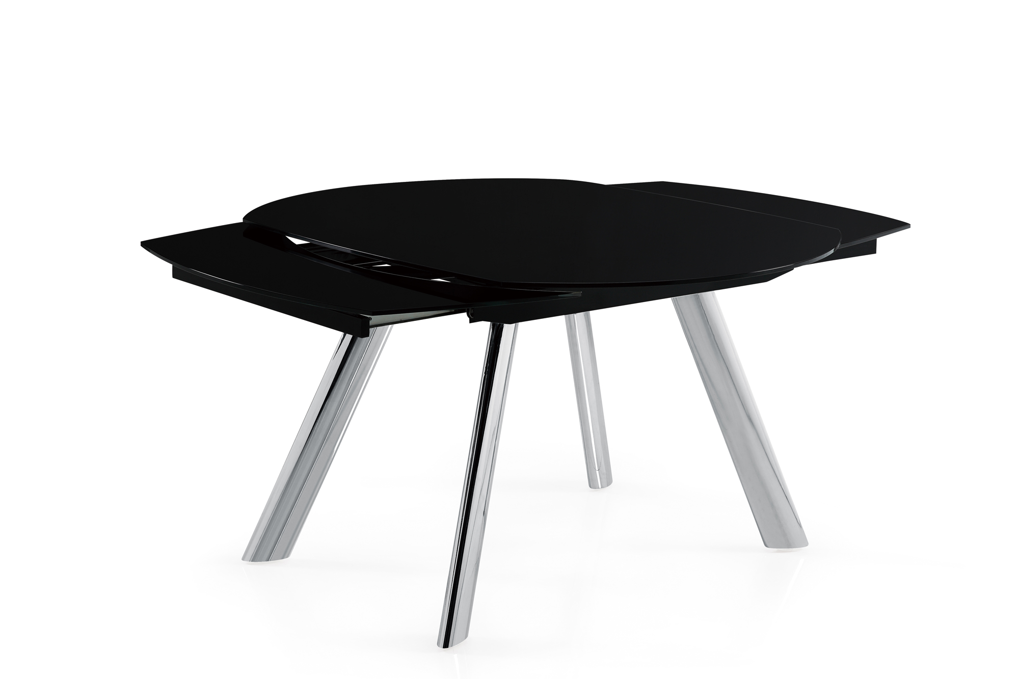 Dining Table D2320DT ChromeBlack Glass Top by Global  : D2320DT3 from futonland.com size 2000 x 1333 jpeg 279kB