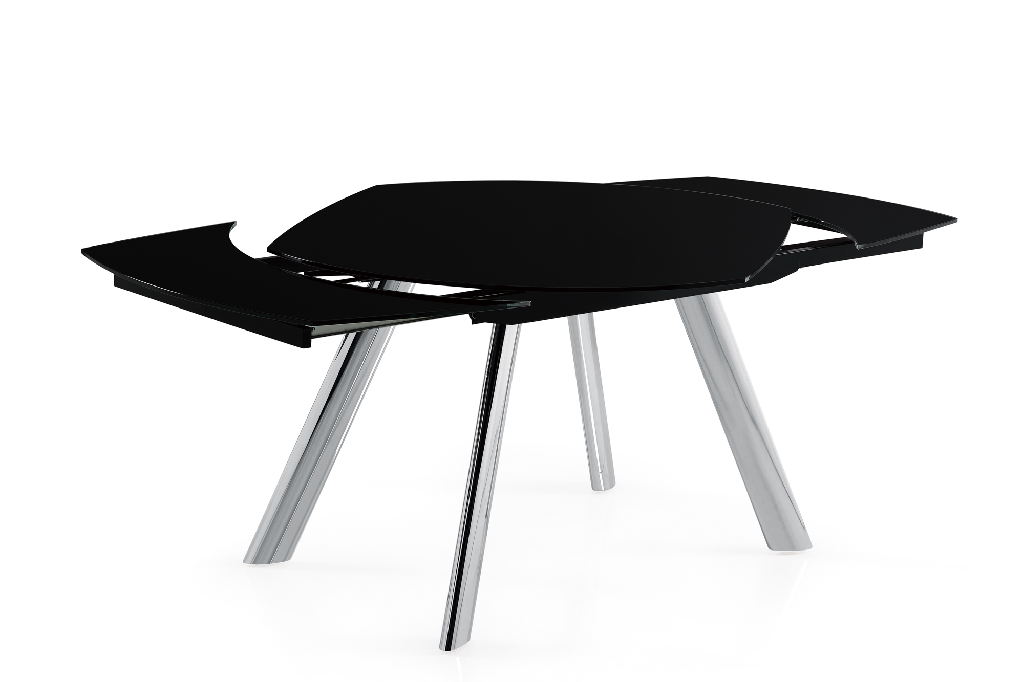 Dining Table D2320DT ChromeBlack Glass Top by Global  : D2320DT4 from futonland.com size 2000 x 1333 jpeg 287kB