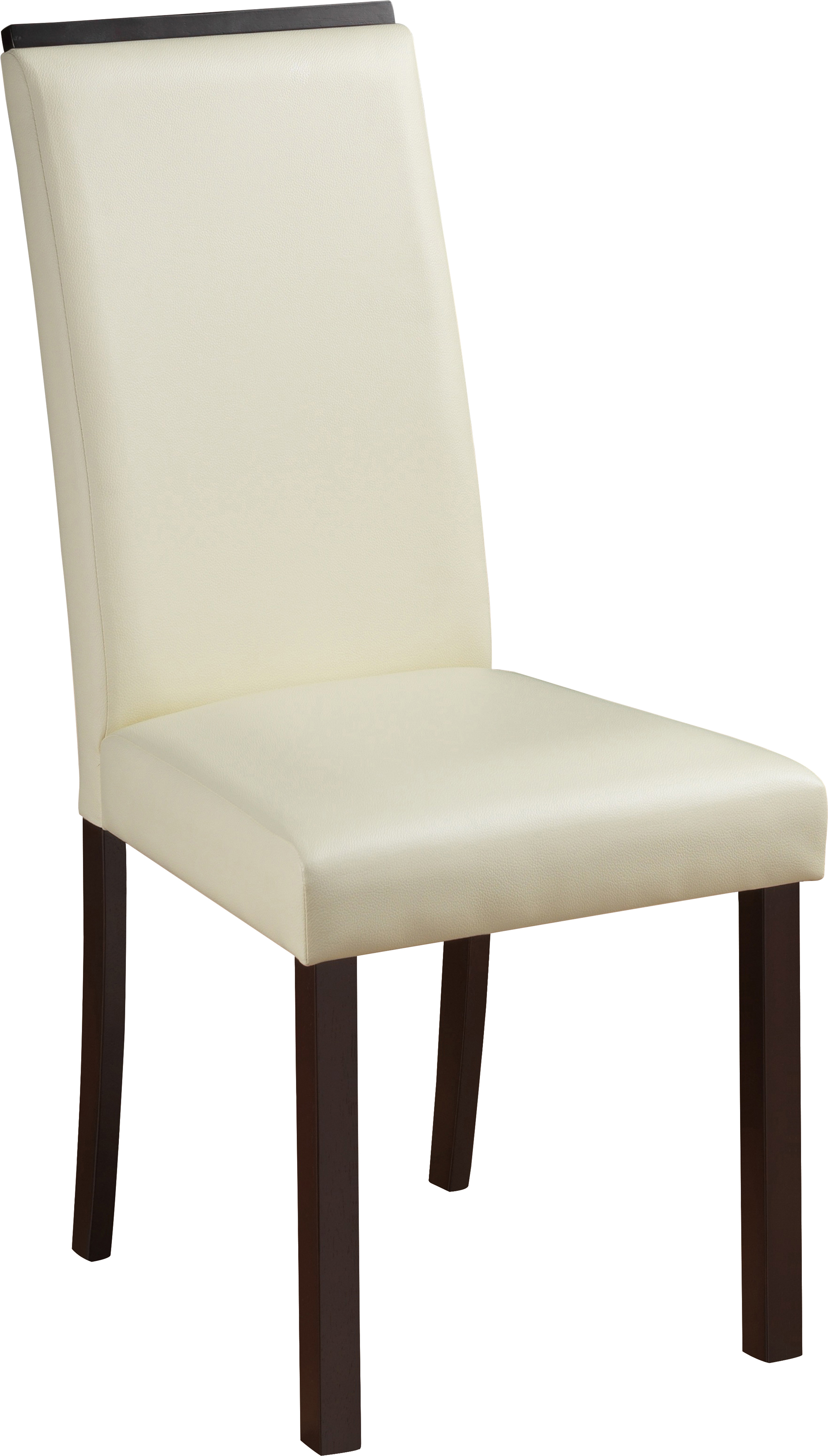 Dining Chair D3048DC Set of 2 Cream PVC by Global  : D3048DC from futonland.com size 2000 x 3515 jpeg 367kB