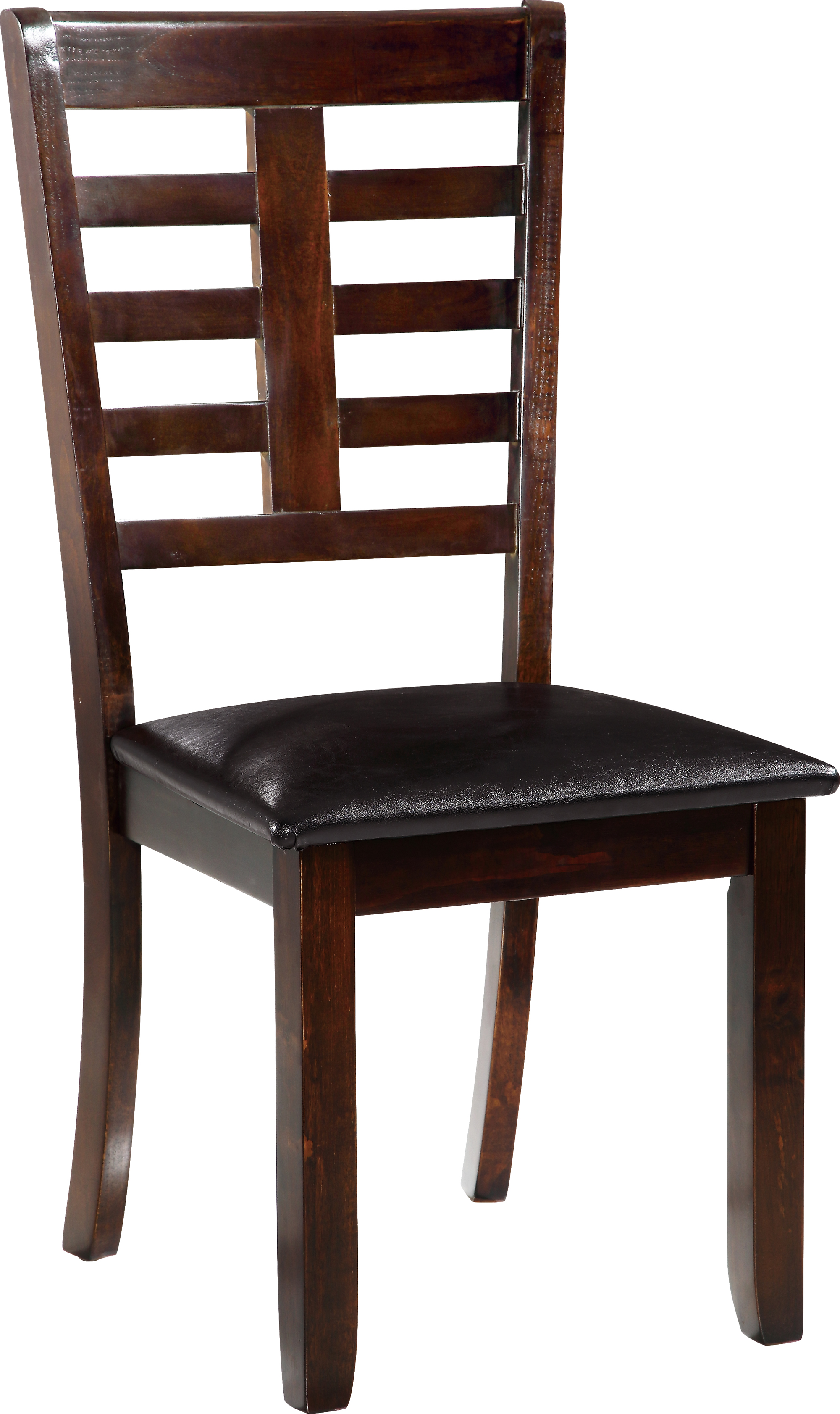 Dining Chair D3743DC Set of 2 Black PUBrown Leg by  : D3743DC from futonland.com size 2000 x 3365 jpeg 1818kB