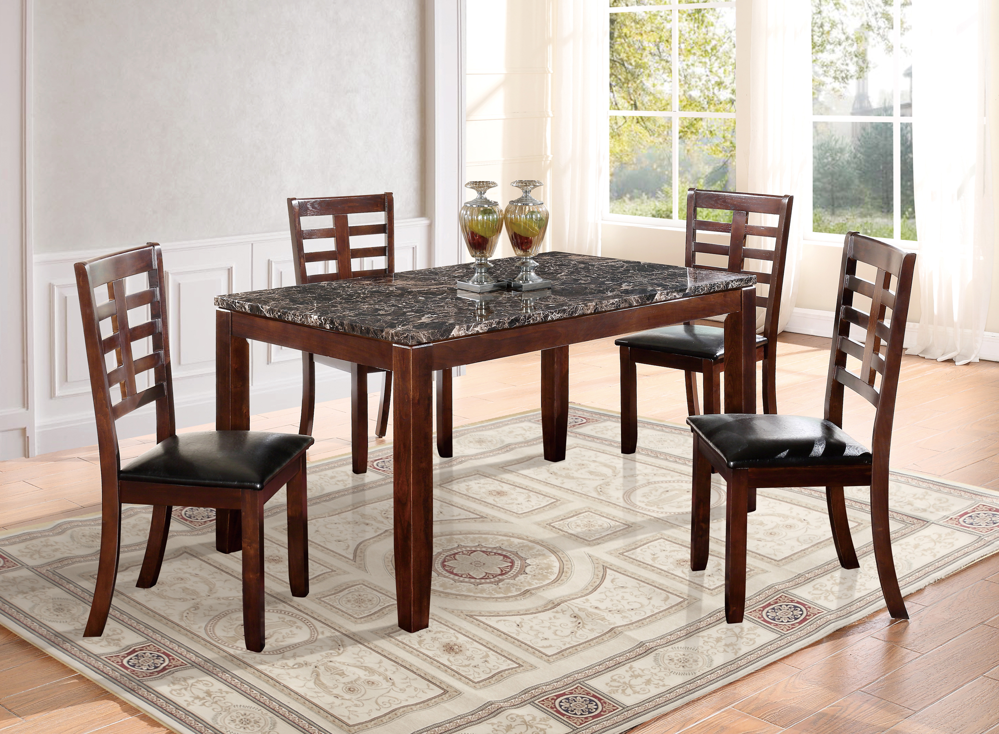 Dining Table D3743DT Dark Brown by Global Furniture