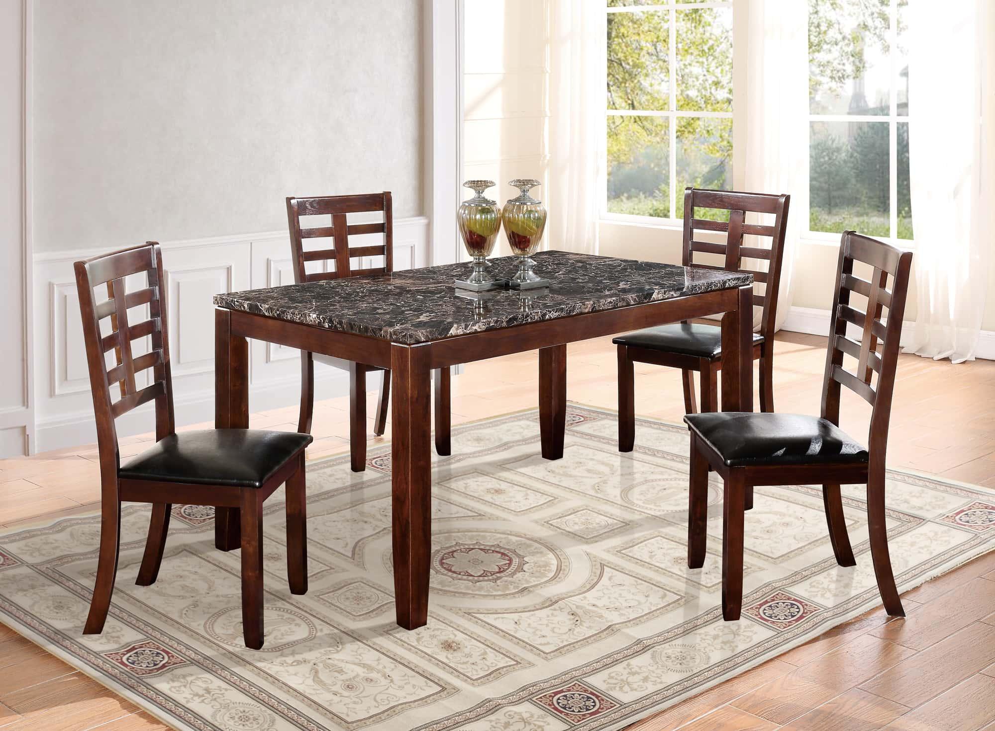 dining table d3743dt dark brown by global furniture. Black Bedroom Furniture Sets. Home Design Ideas