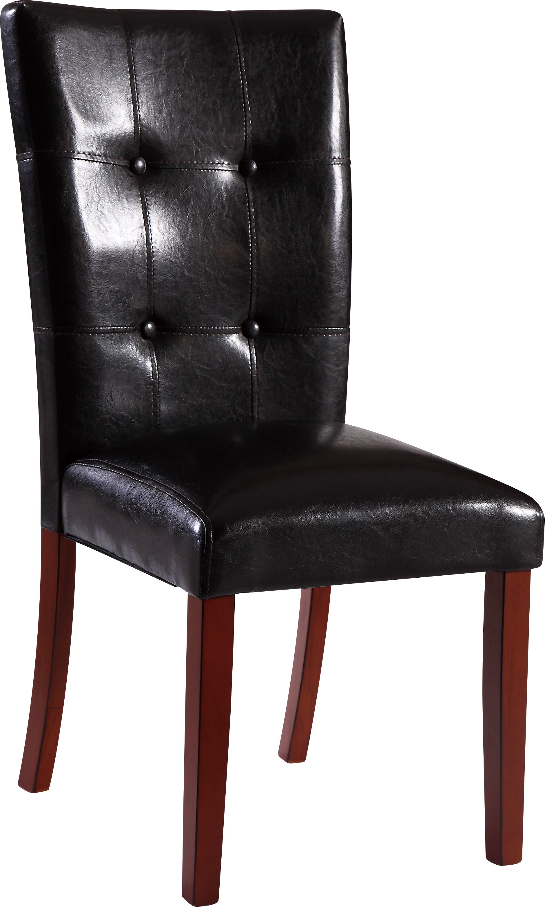 Dining Chair D3861DC Set of 2 Black PUOak Leg by Global  : D3861DC from futonland.com size 1881 x 3126 jpeg 1835kB