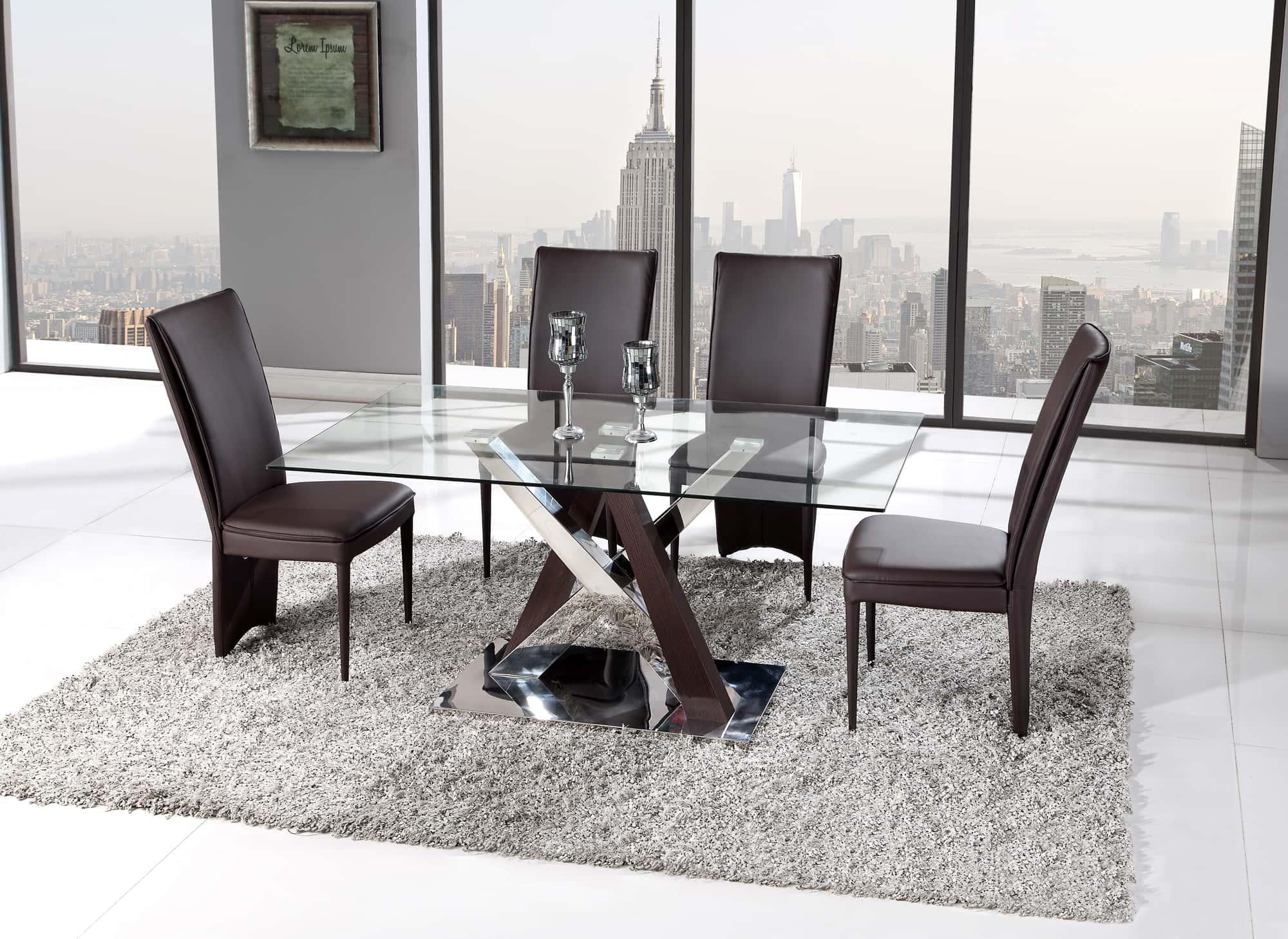 Wenge Living Room Furniture Dining Table D4100dt 3d Wenge By Global Furniture