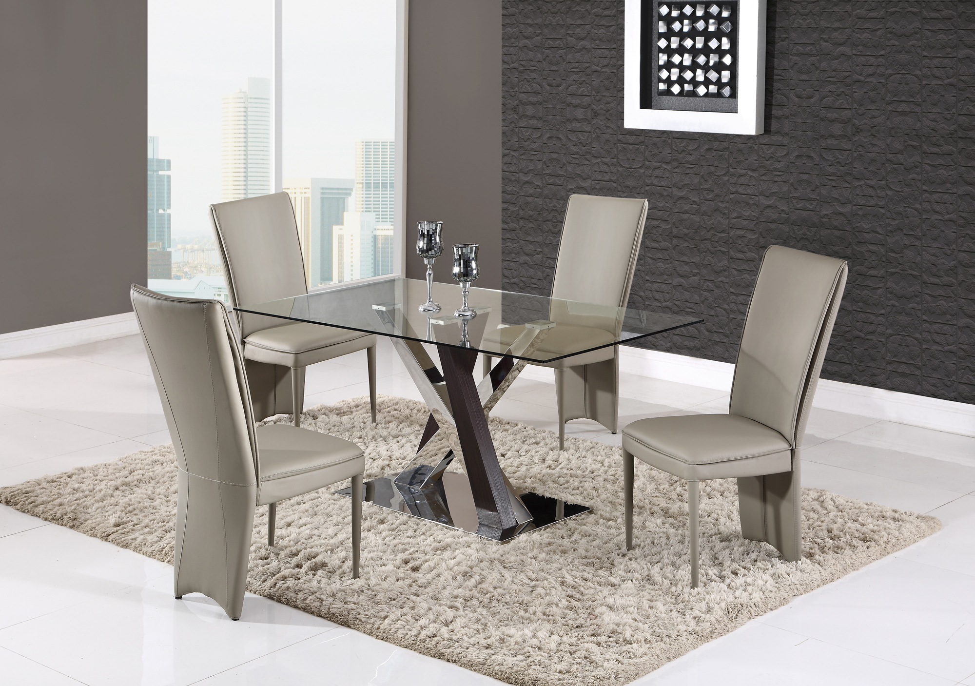 Dining Table D4100DT 3D Wenge by Global Furniture