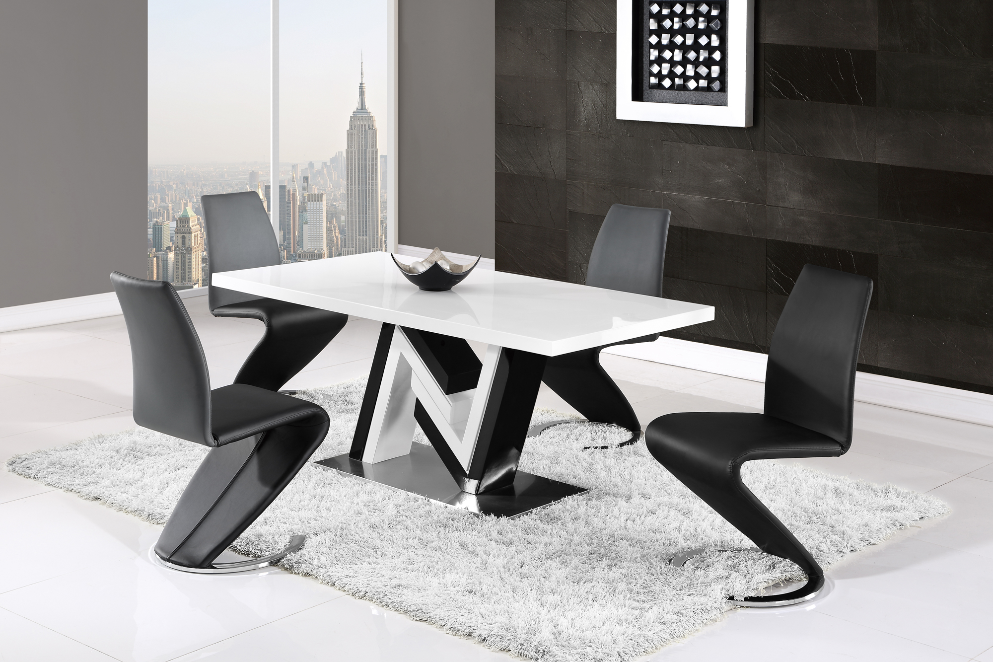 Black and white dining table - Black And White Dining Table 50