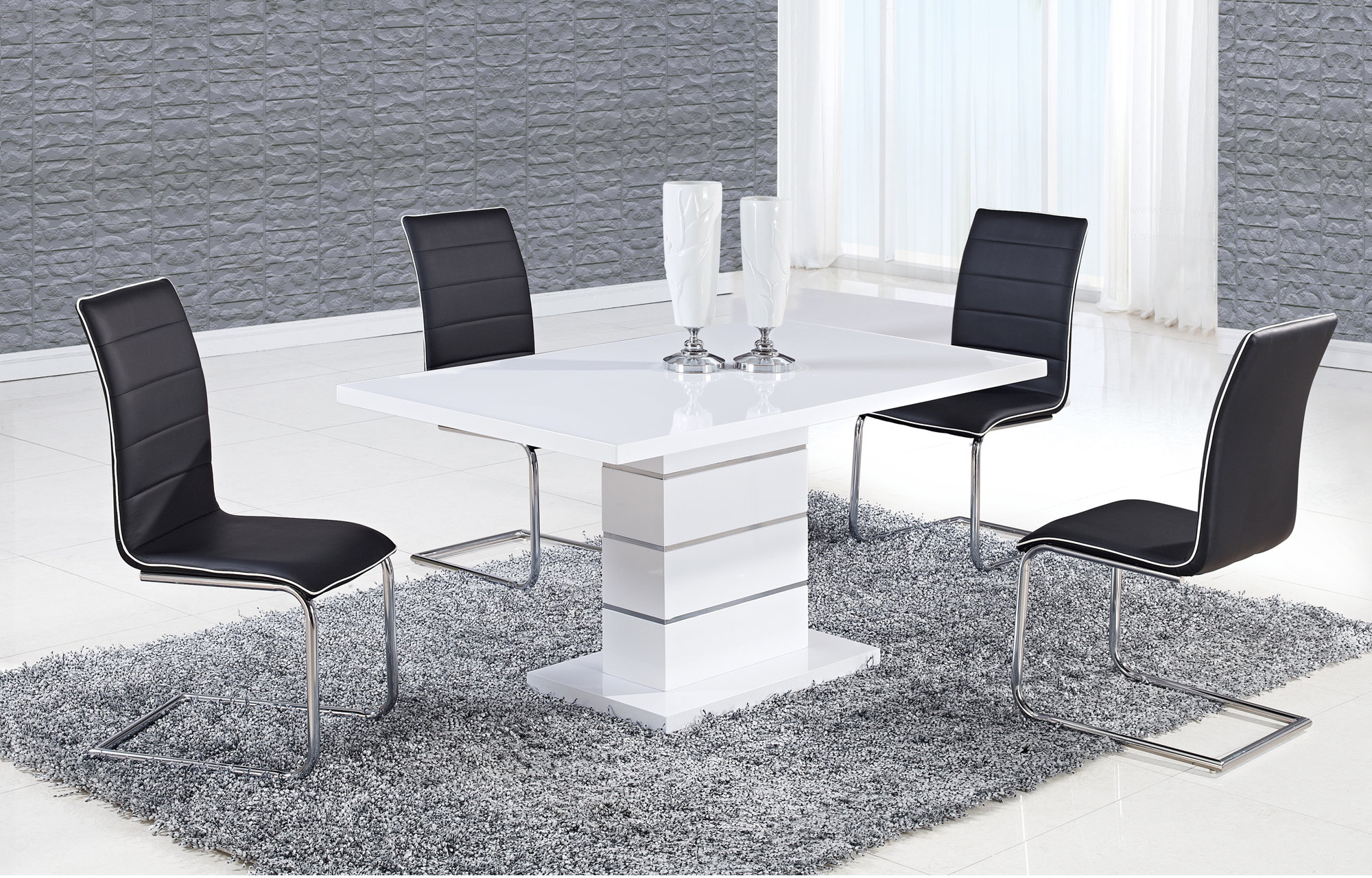 Dining Table D470DT White HG by Global Furniture : D470DTD490DC BL from futonland.com size 2000 x 1280 jpeg 1923kB