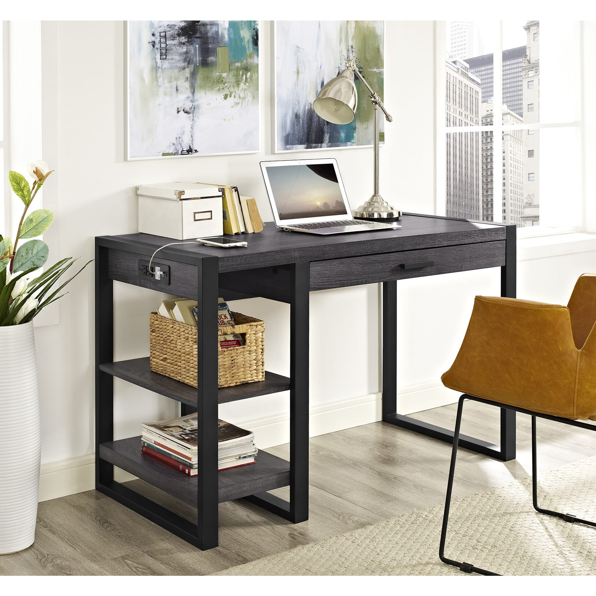 Urban Blend 48 Inch Computer Storage Desk