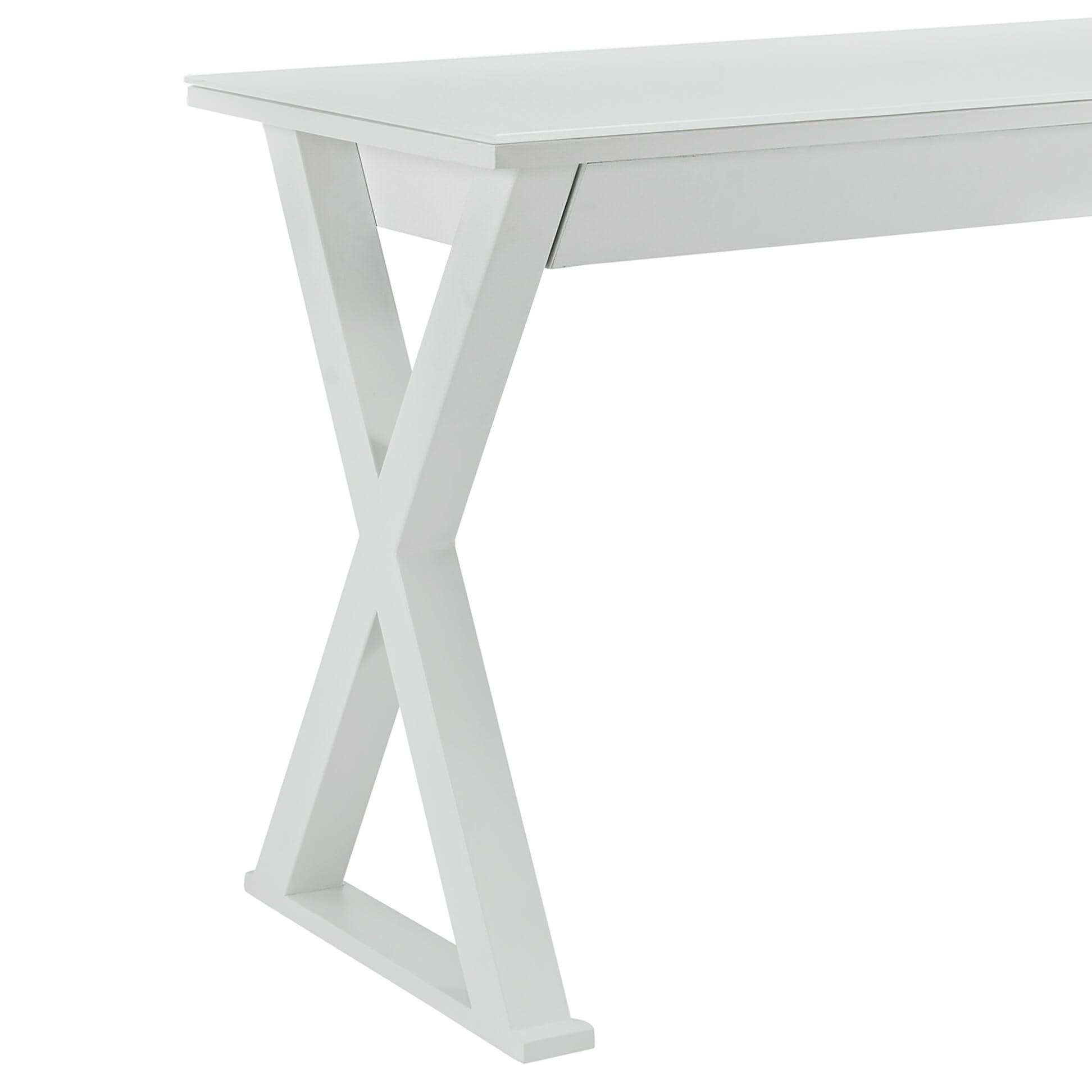 Fabulous Xtra 48 Inch Computer Desk White By Walker Edison Interior Design Ideas Skatsoteloinfo