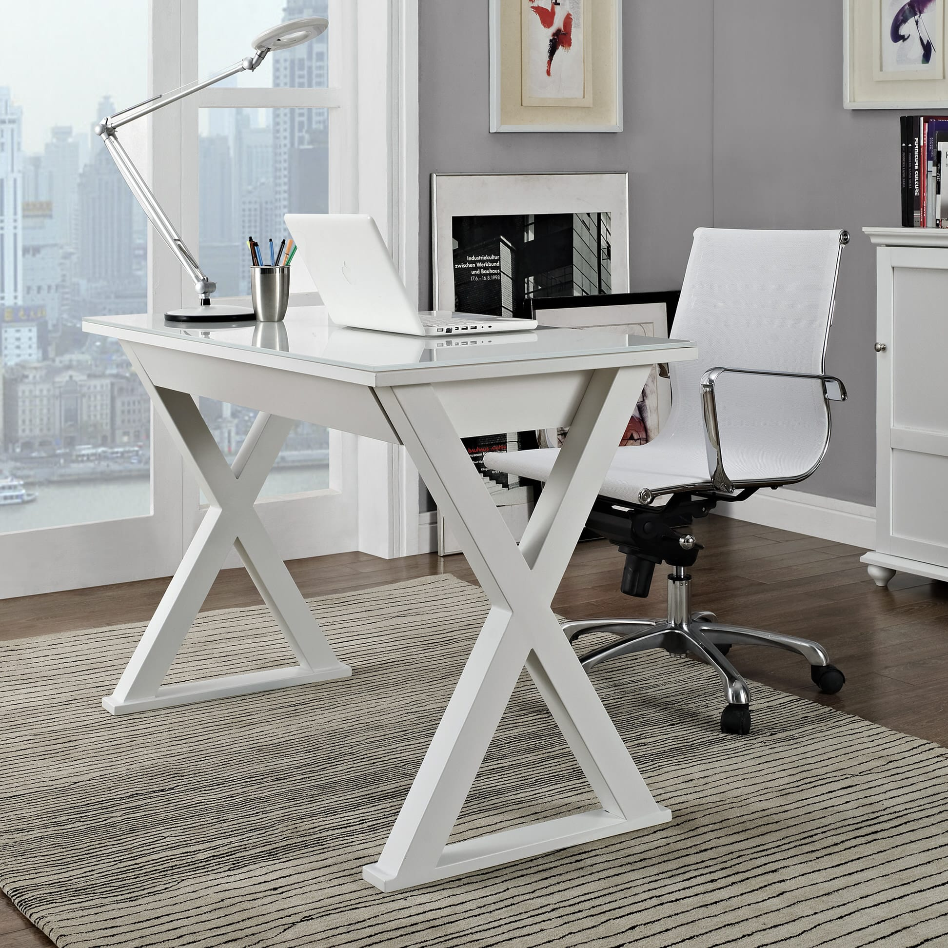 Awe Inspiring Xtra 48 Inch Computer Desk White By Walker Edison Beutiful Home Inspiration Semekurdistantinfo
