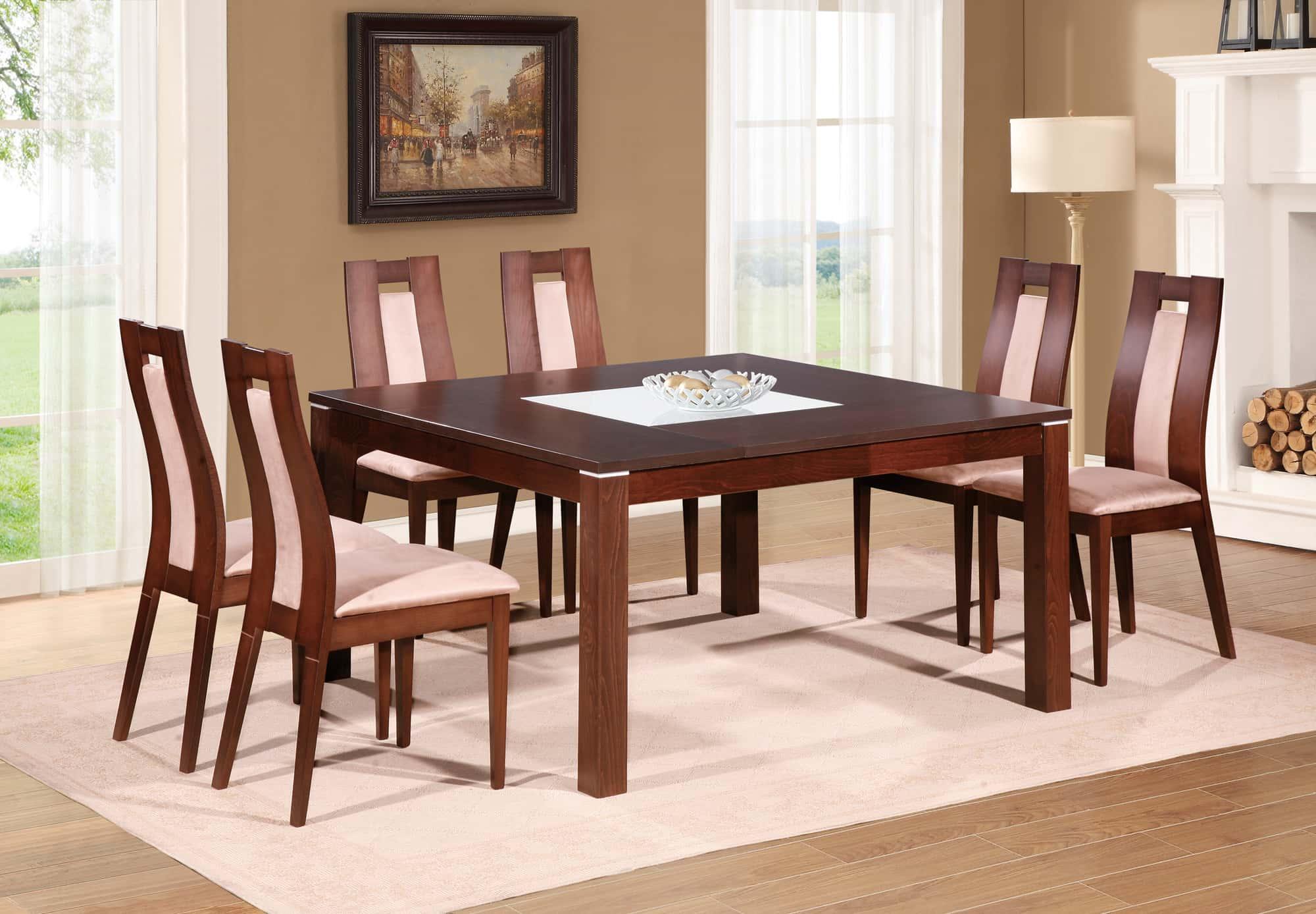 dining table d4921dt burn beech by global furniture. Black Bedroom Furniture Sets. Home Design Ideas