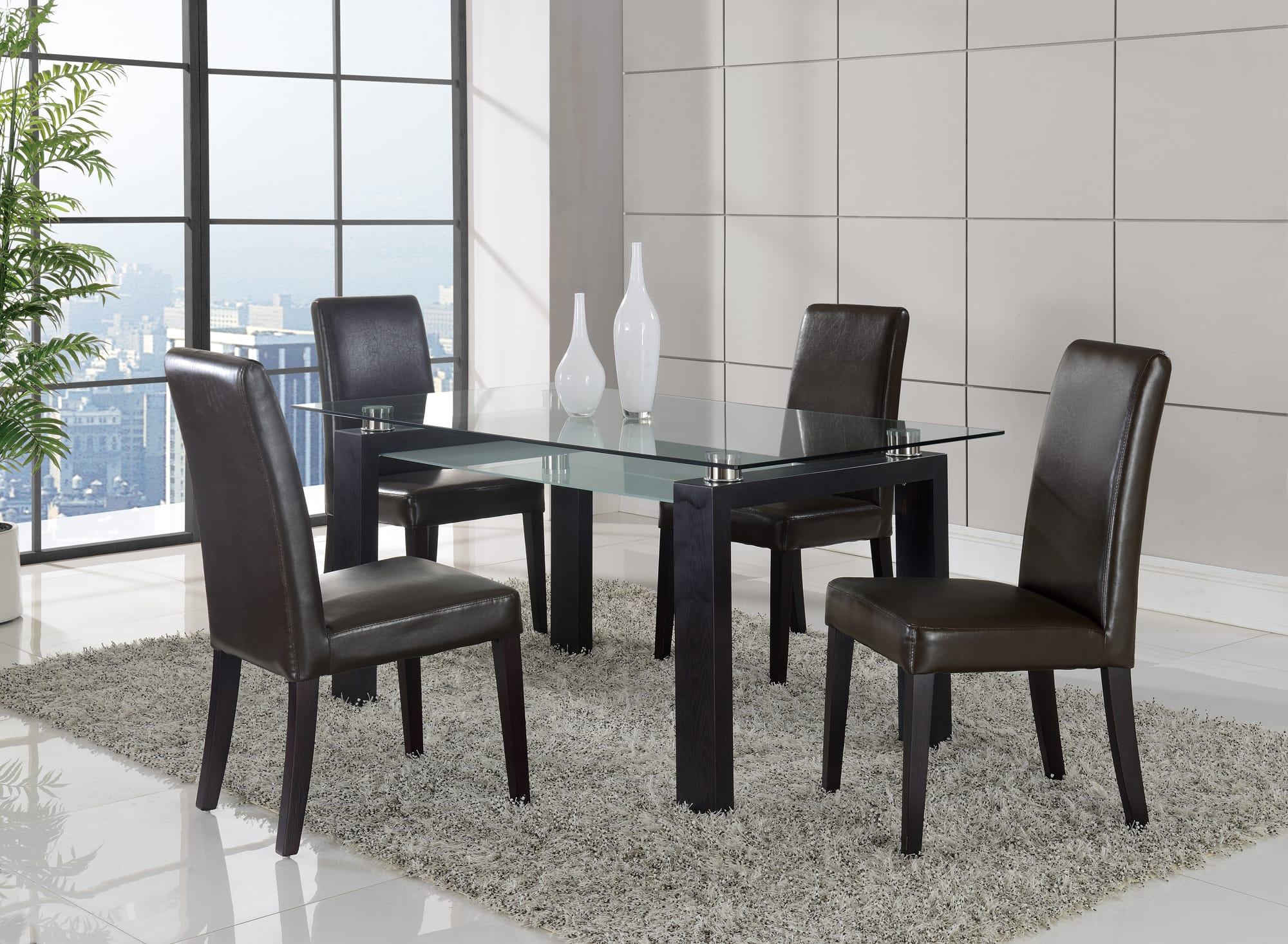 dining table d646dt black walnut by global furniture. Black Bedroom Furniture Sets. Home Design Ideas