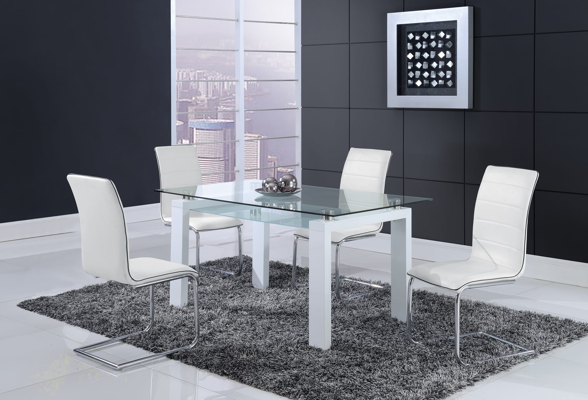 Dining Table D648DT White By Global Furniture