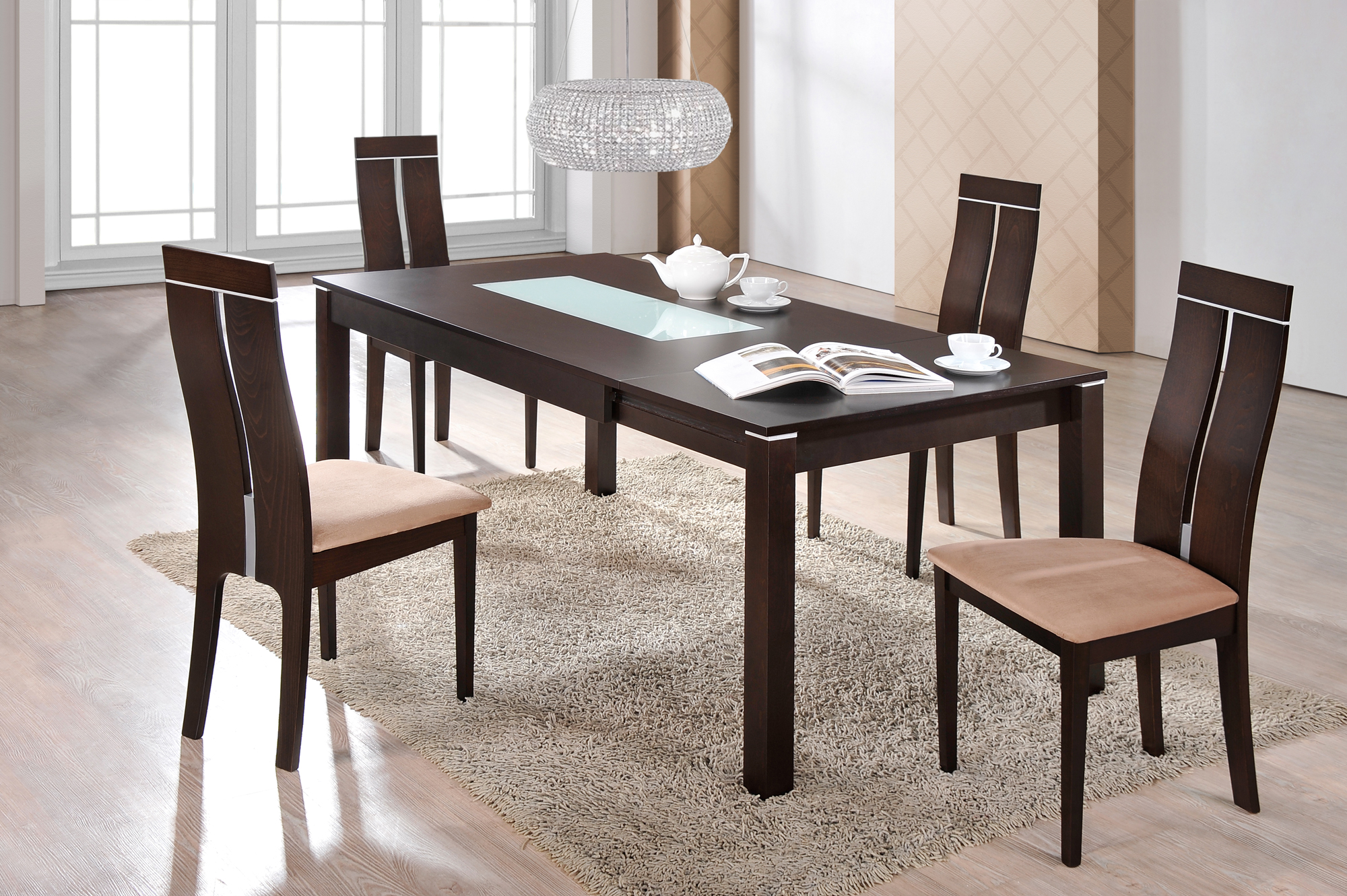 Dining Table D6948DT Dark Walnut