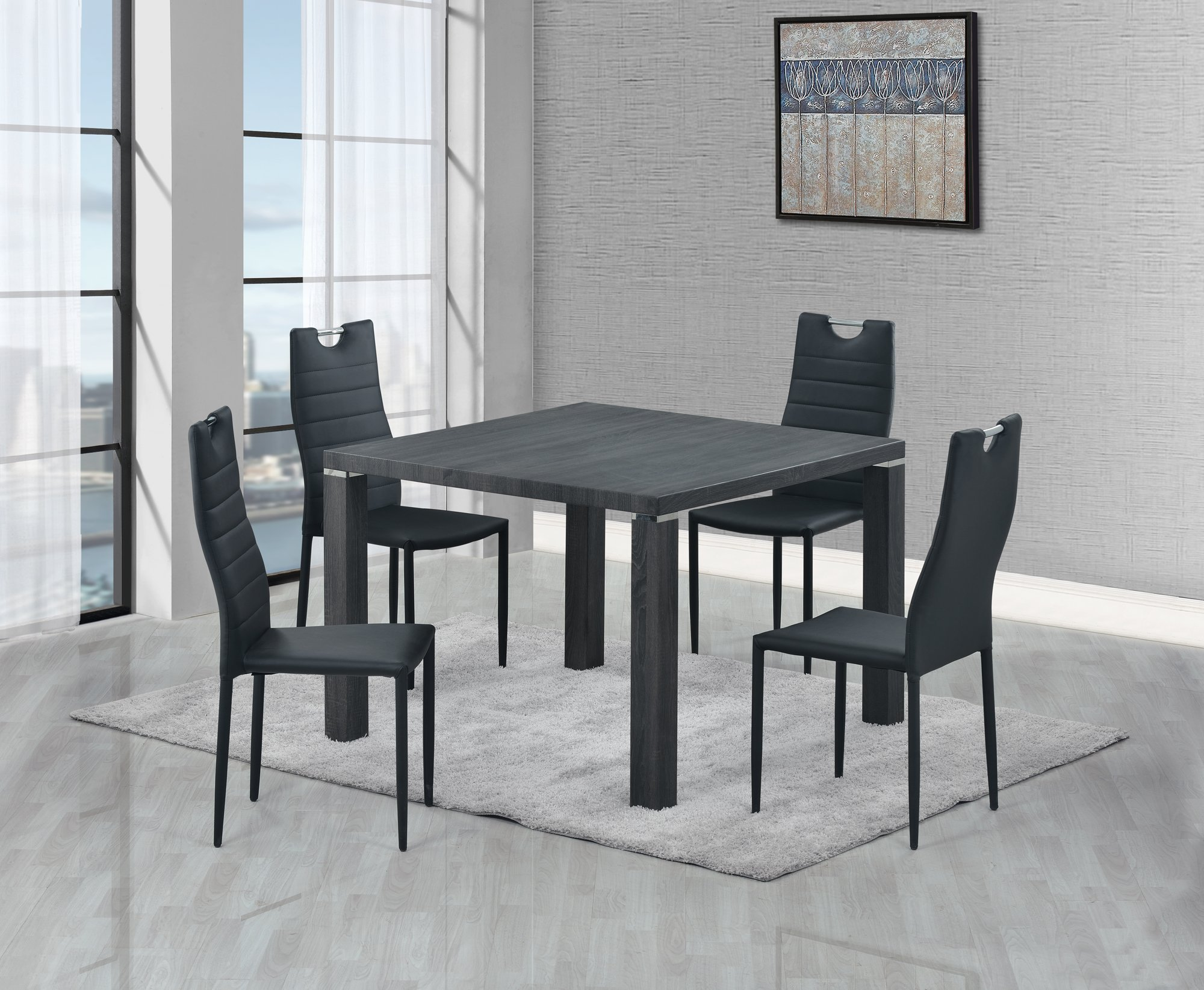 Dining Table D733DT Grey Wood