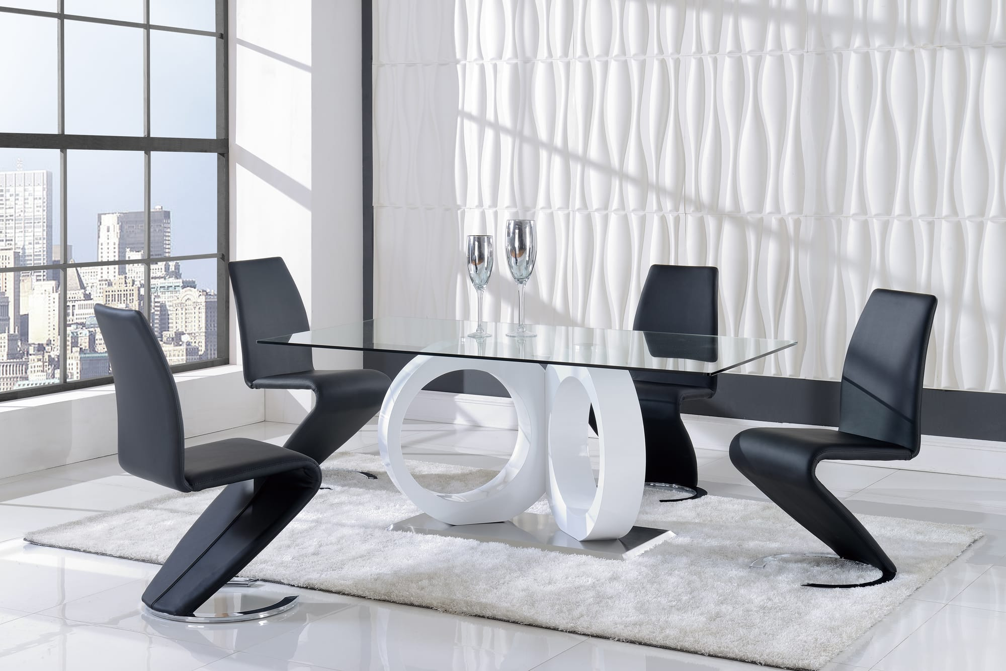 Dining Table D9002DT White By Global Furniture